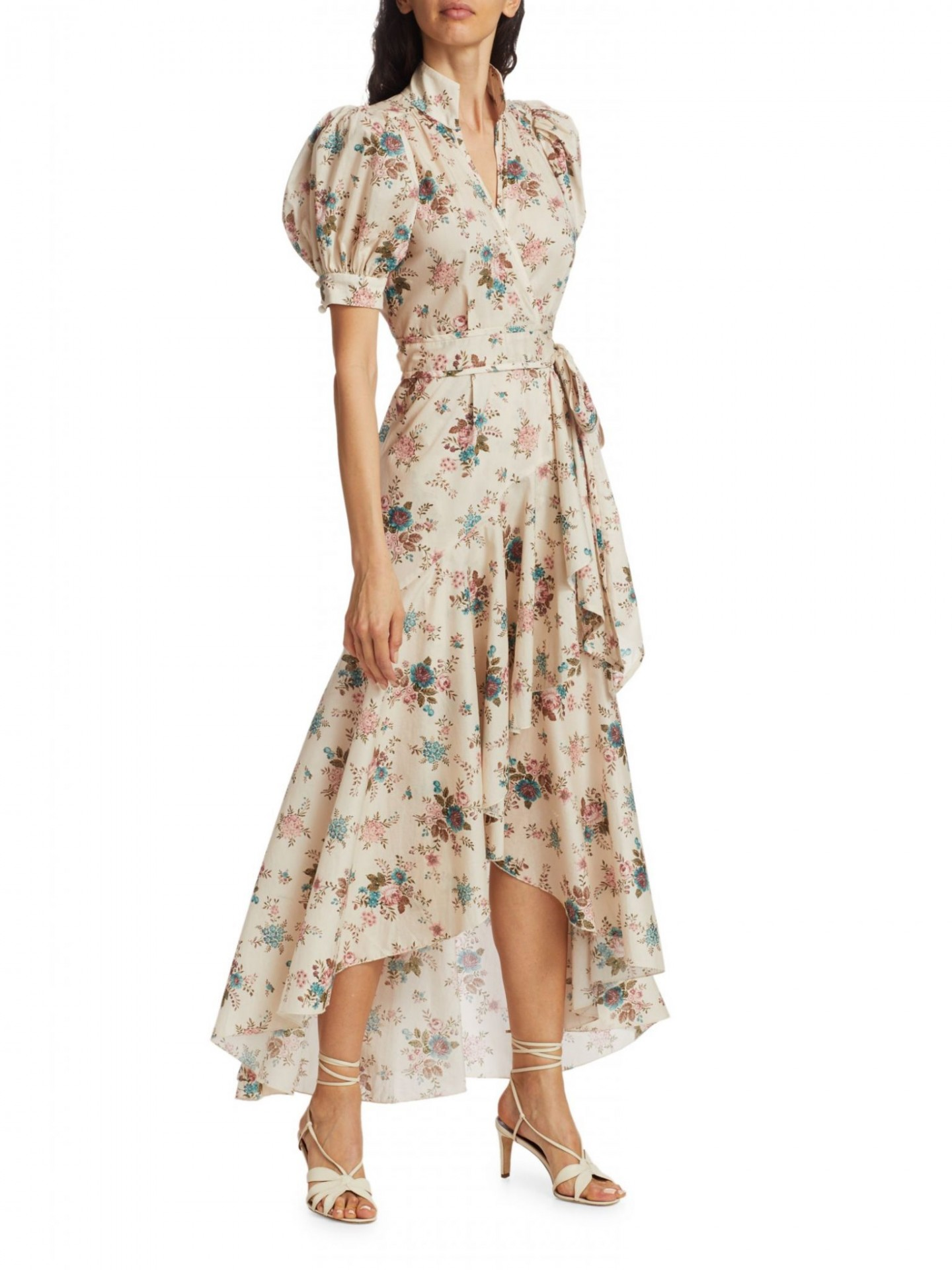 ANNA MASON Stella Floral High-Low Wrap Dress