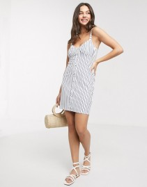 ASOS DESIGN Button Through Cupped Sun Dress