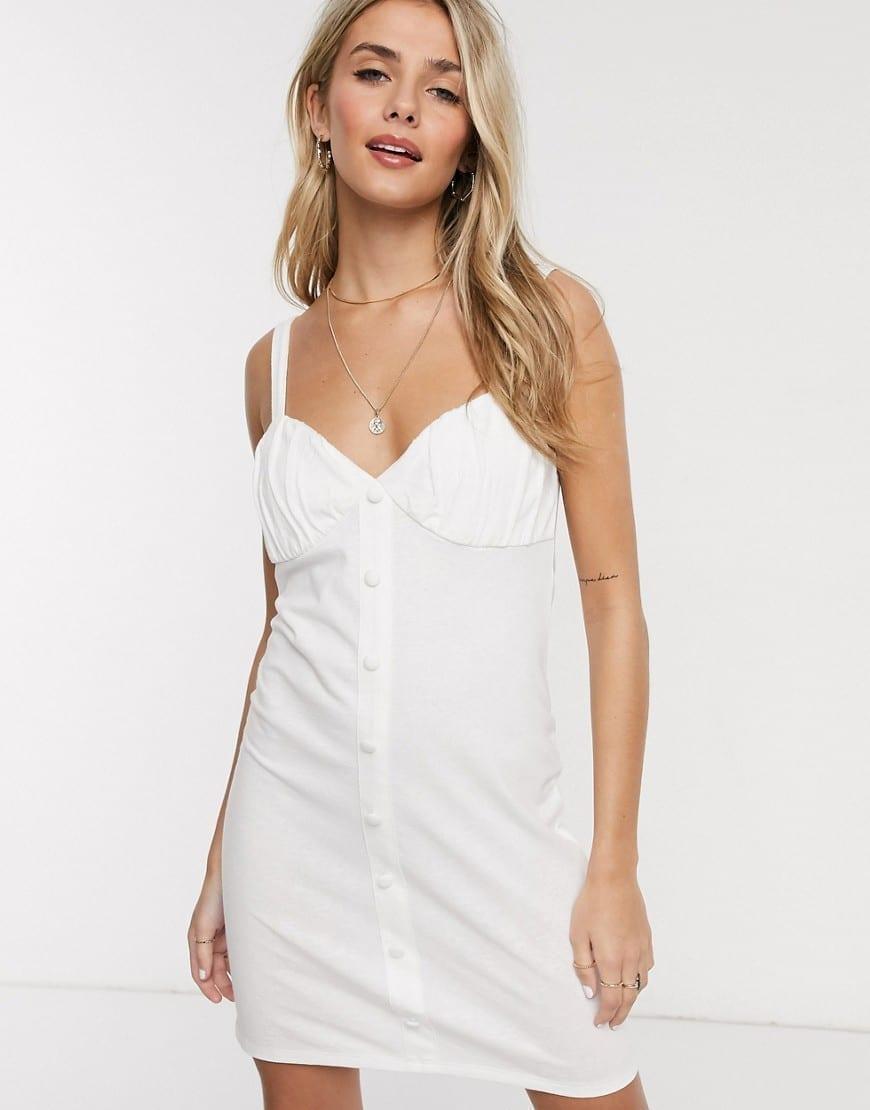 ASOS DESIGN Button Through Cupped Sun Dress