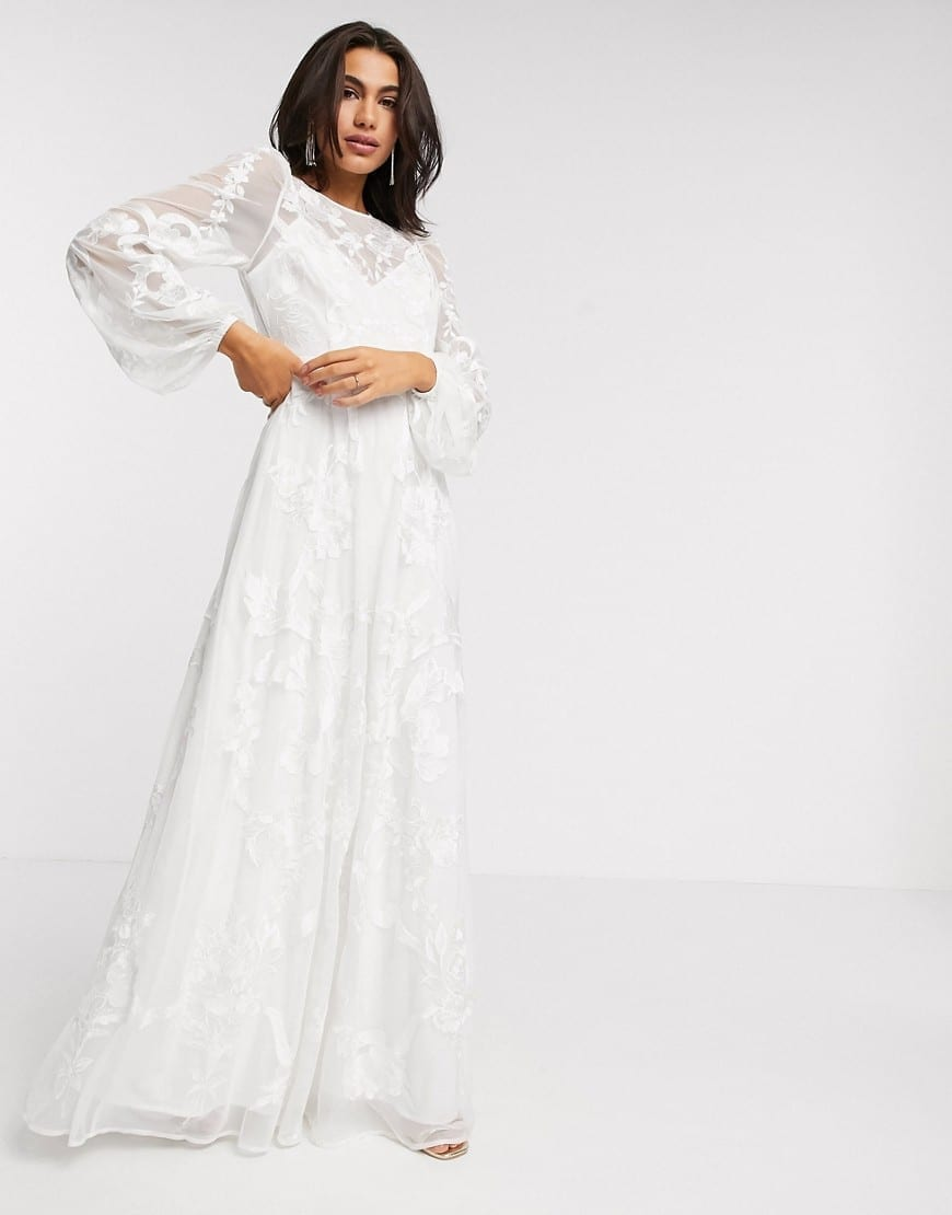 ASOS EDITION Embroidered Wedding Dress