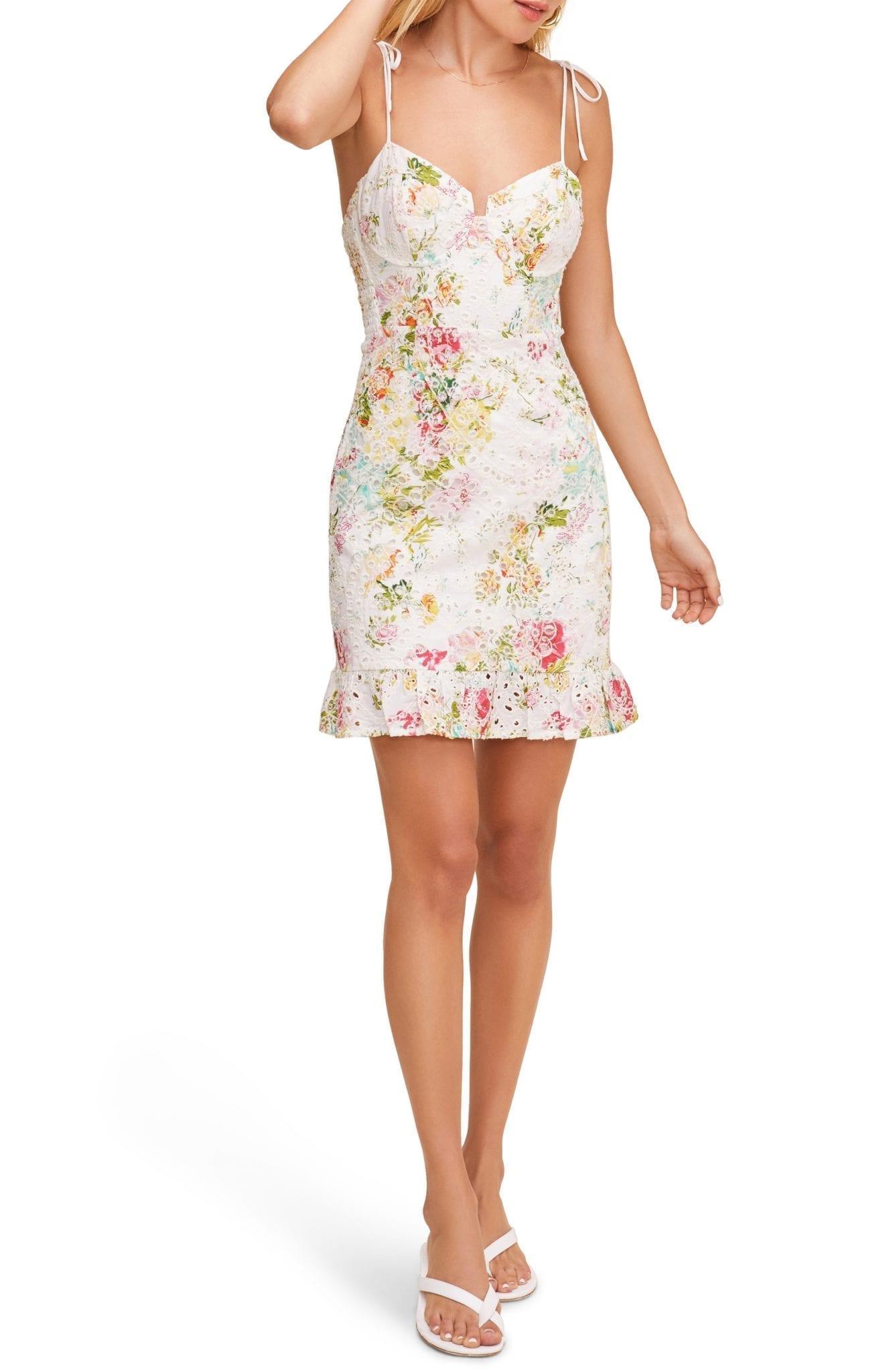 ASTR THE LABEL Mireille Floral Lace Sun Dress