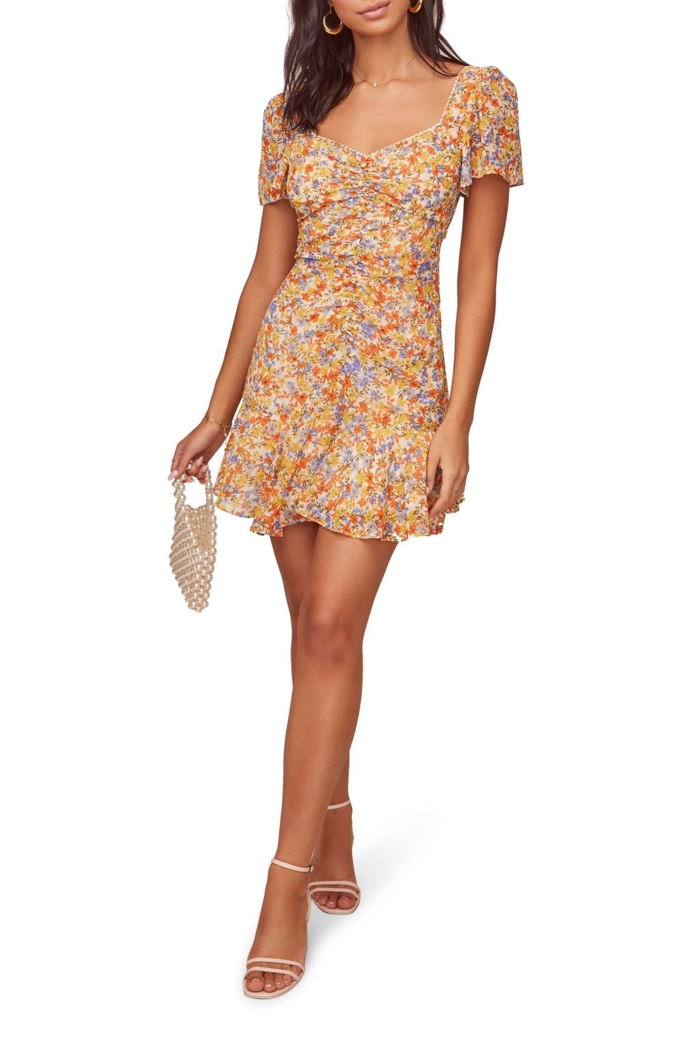 ASTR THE LABEL So Smitten Ruched Mini Dress