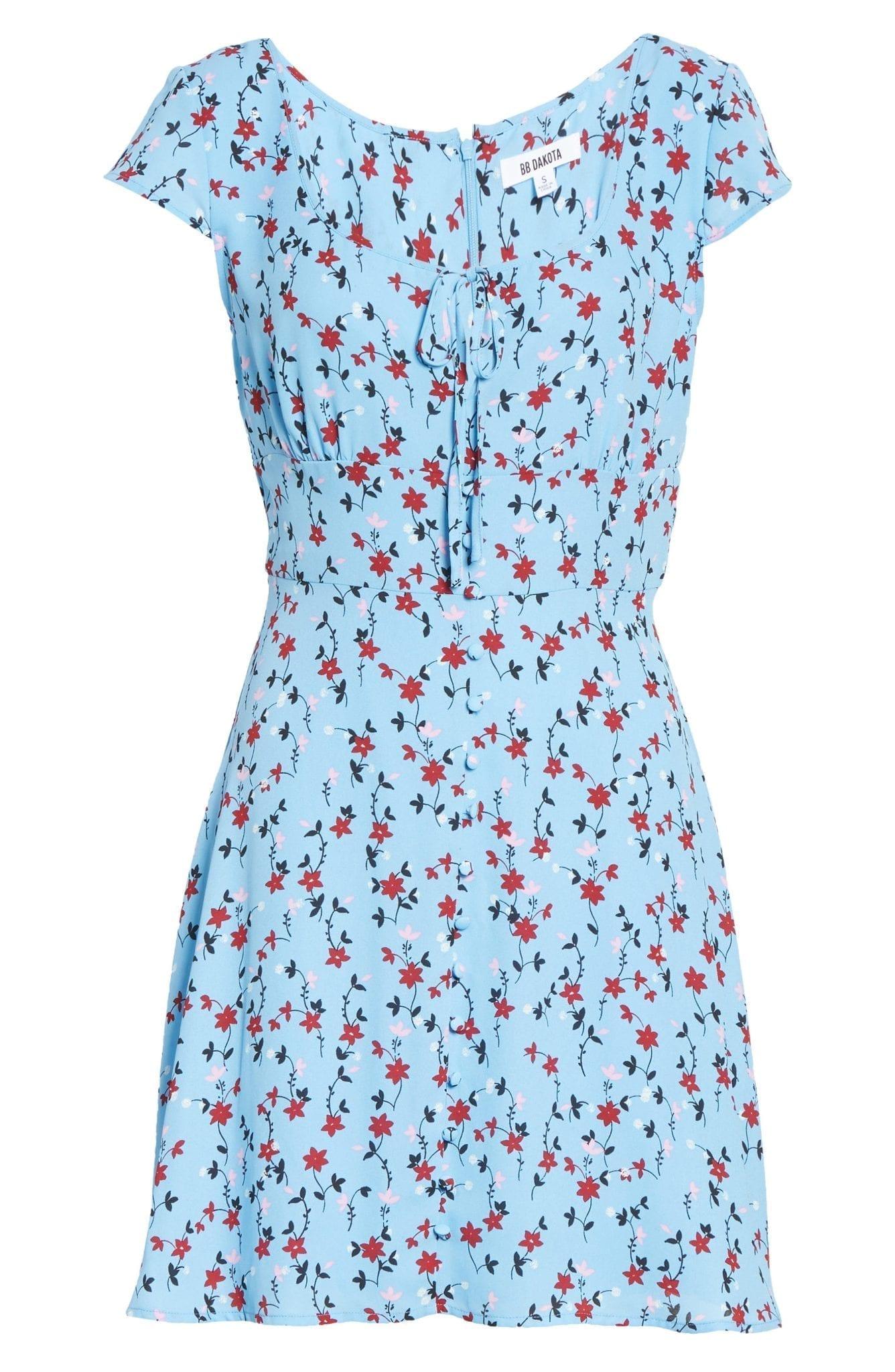 BB DAKOTA La Femme Cali Bloom Mini Dress
