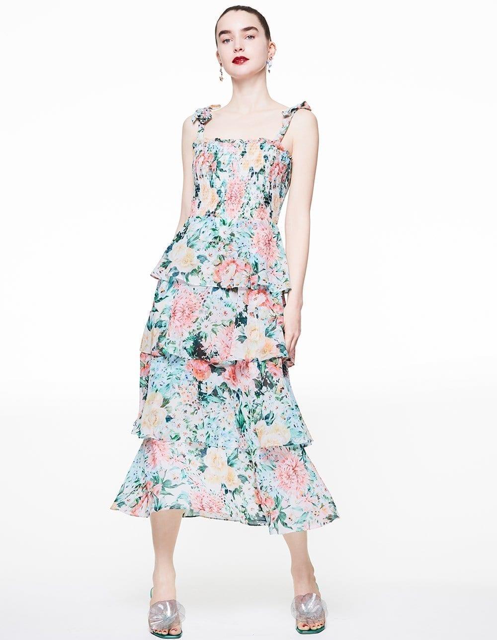 BETSY JOHNSON Garden Smocked Dress