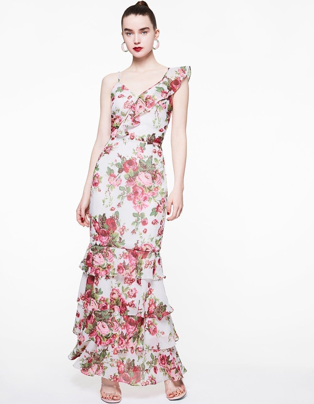 BETSY JOHNSON Rosey Asymmetrical Dress