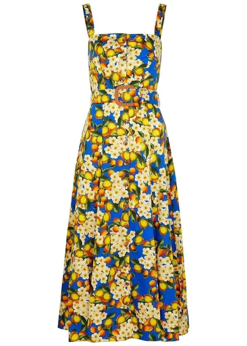 BORGO DE NOR Camilla Floral-print Cotton Dress