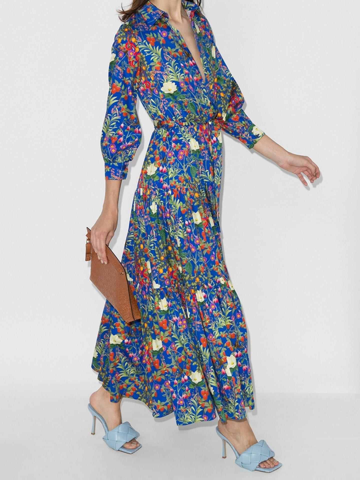 BORGO DE NOR Clarissa Floral Shirt Dress
