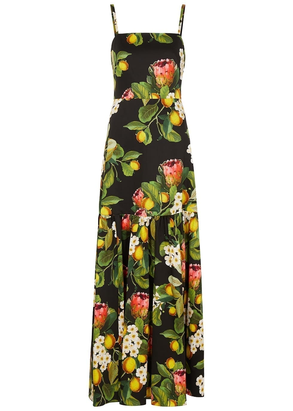 BORGO DE NOR Cordelia Floral-print Cotton Maxi Dress