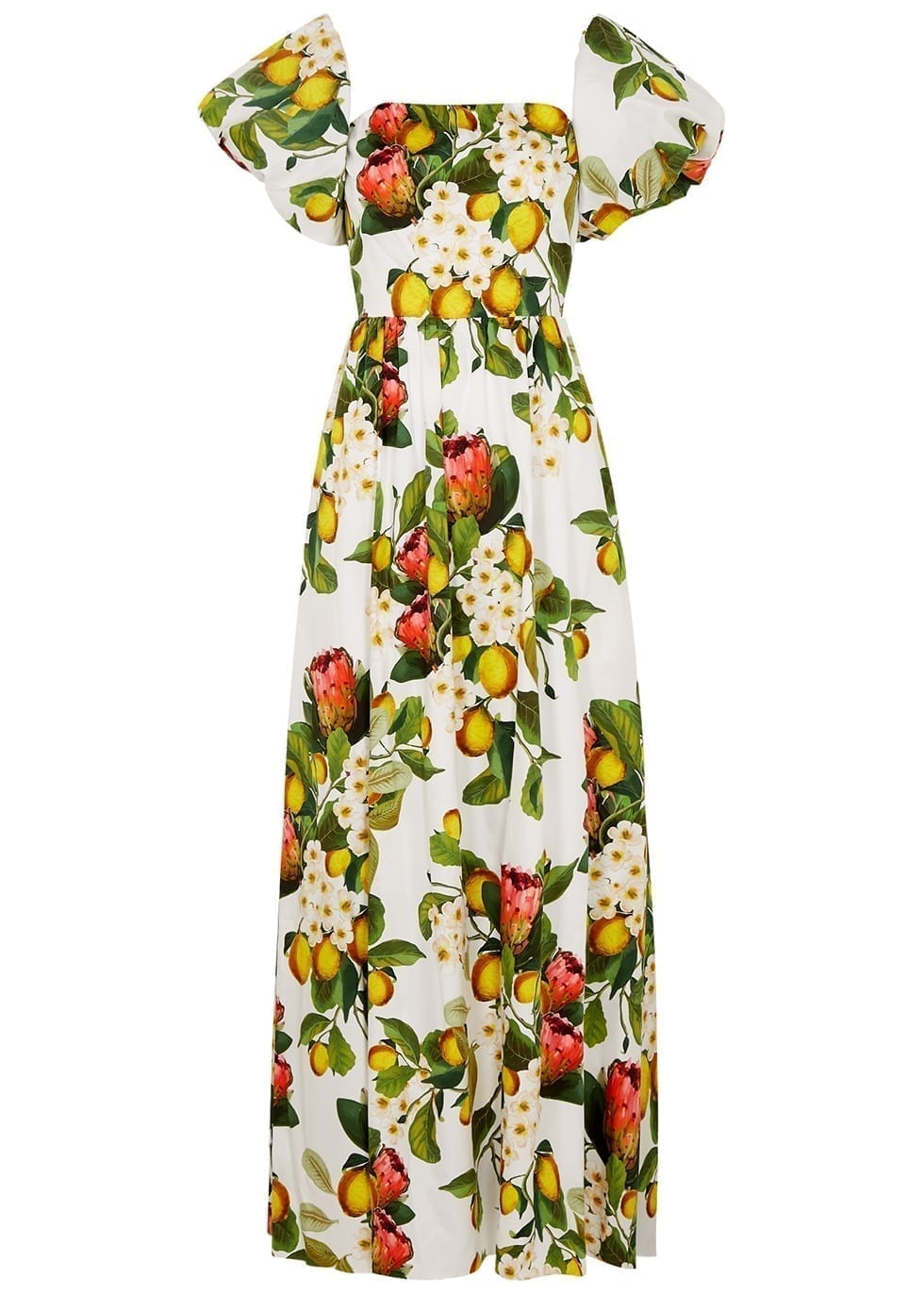 BORGO DE NOR Juliet Floral-print Cotton Maxi Dress