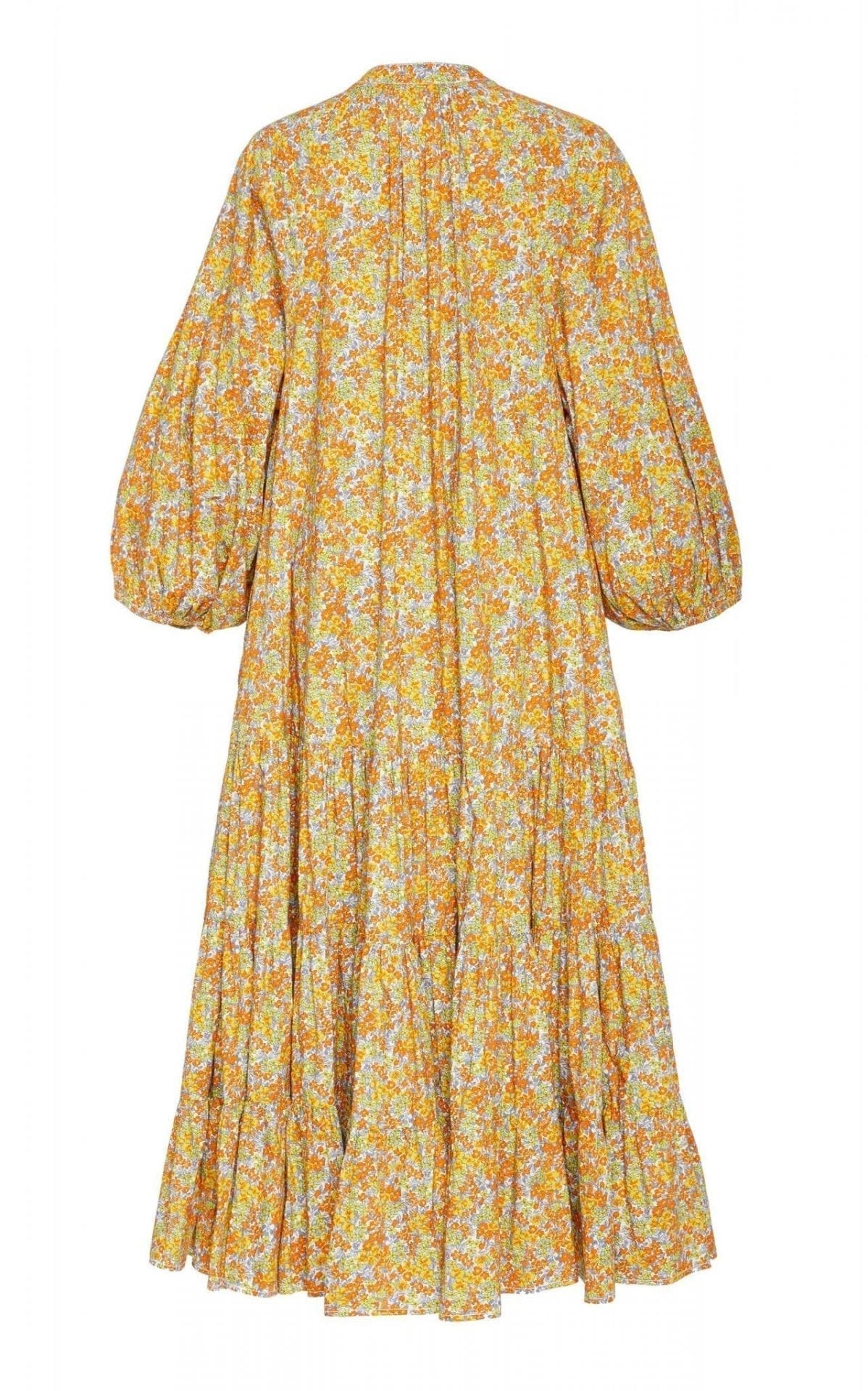 BYTIMO Floral-Print Oversized Cotton Midi Dress