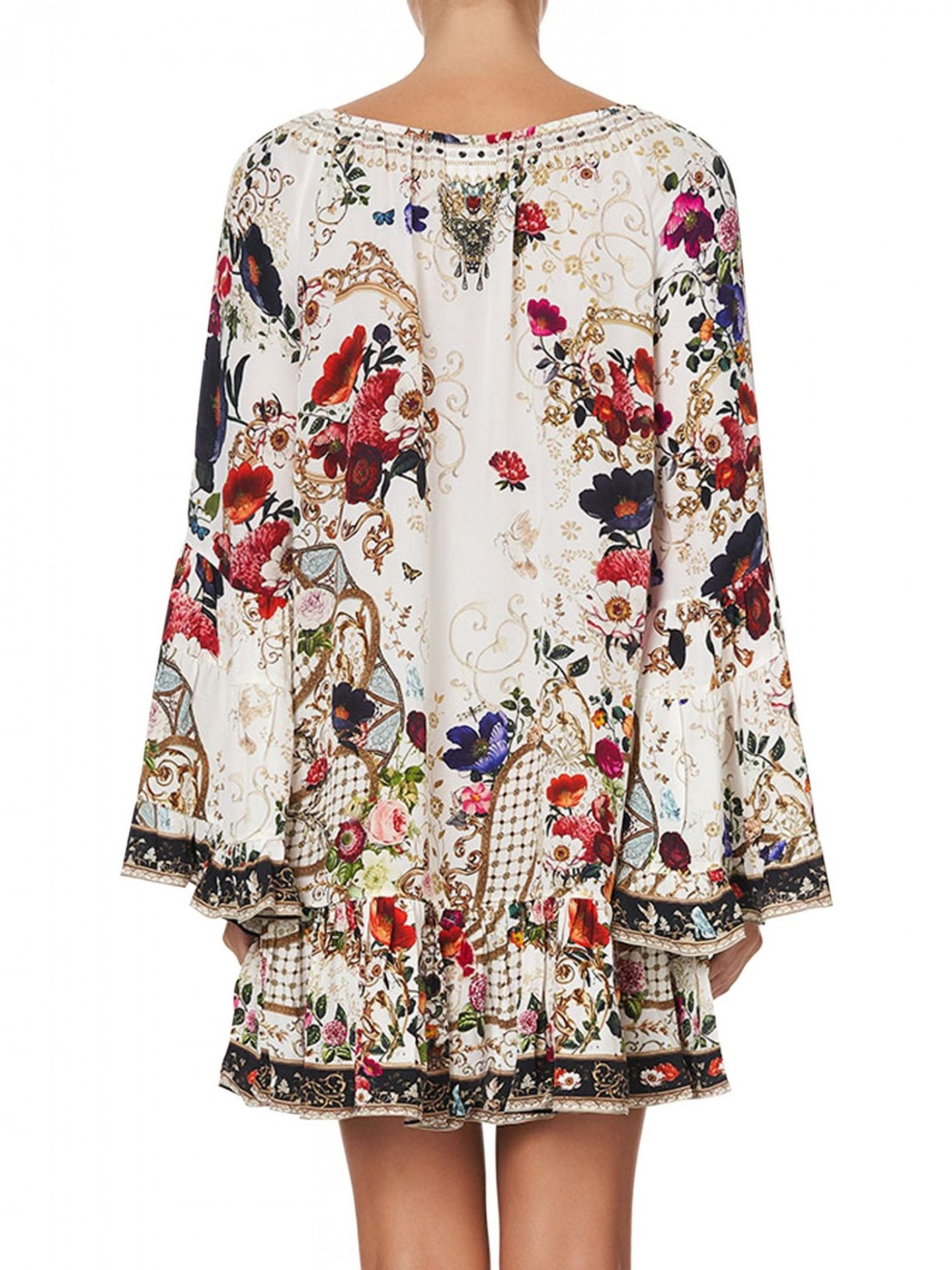 CAMILLA A-Line Frill Printed Dress