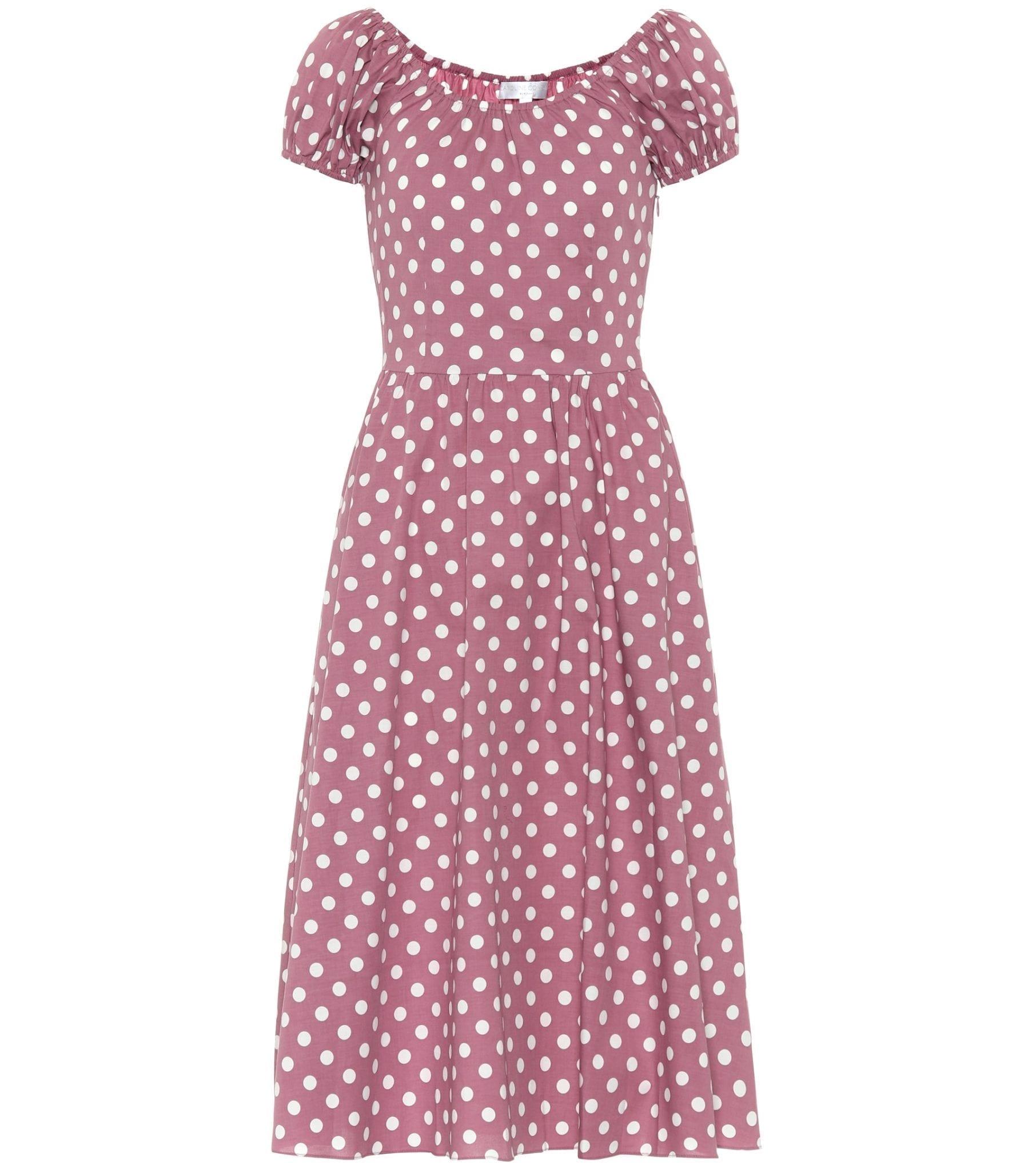 CAROLINE CONSTAS Mariette Polka-Dot Dress