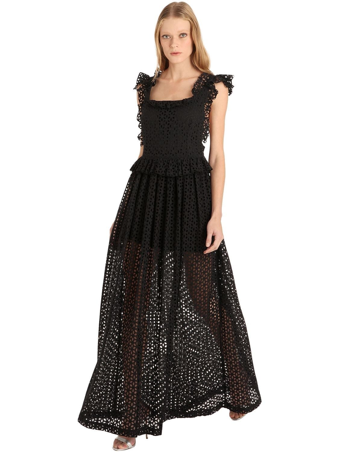 CC BY CAMILLA CAPPELLI Anna Eyelet Lace Maxi Dress