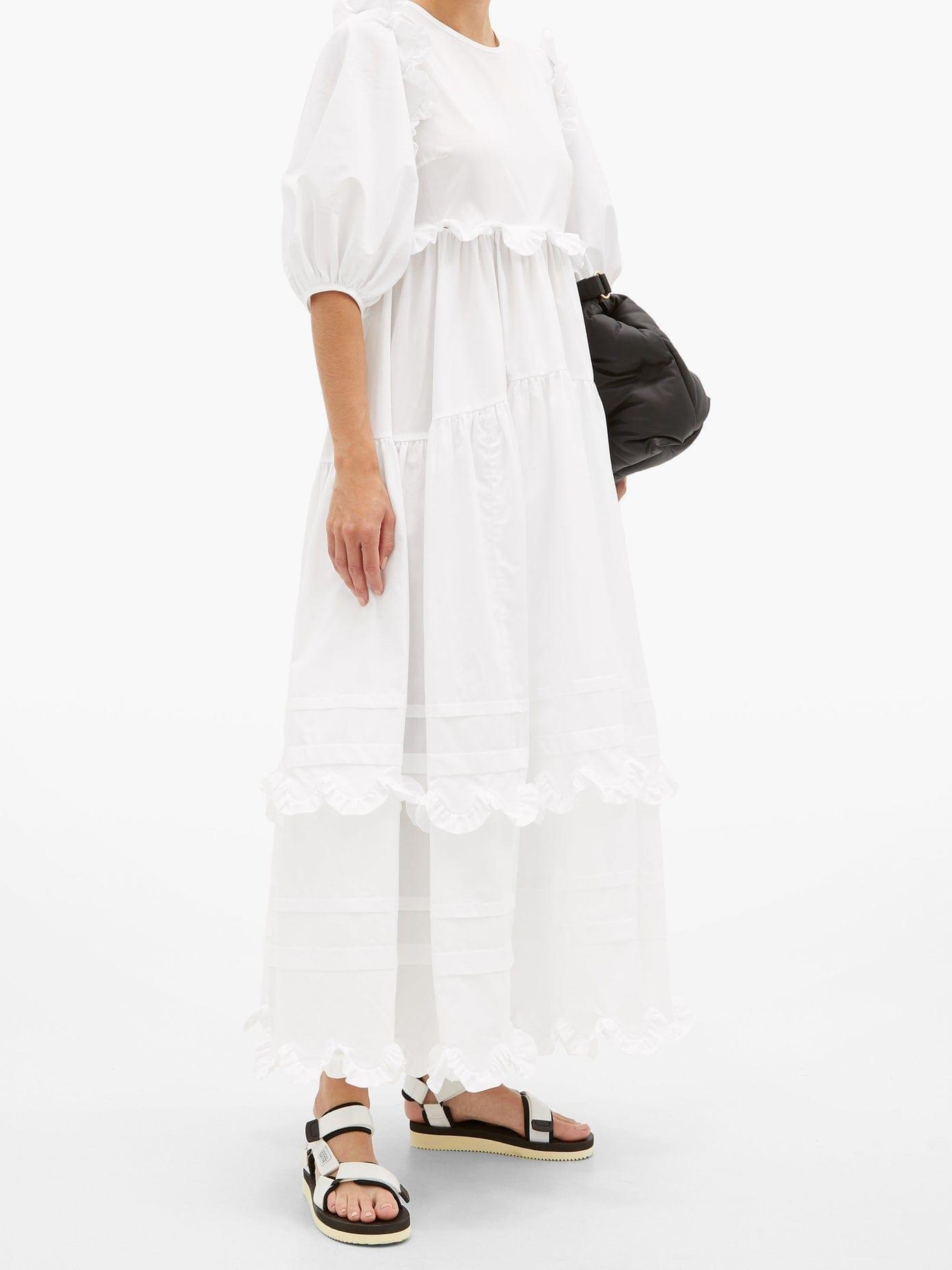 CECILIE BAHNSEN Marina Ruffled Cotton-poplin Dress