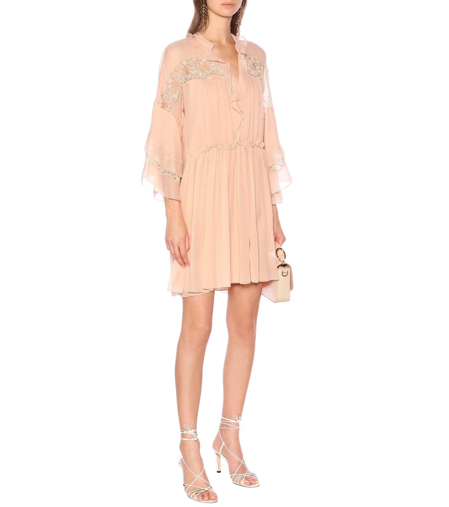 CHLOÉ Silk-Georgette Mini Dress