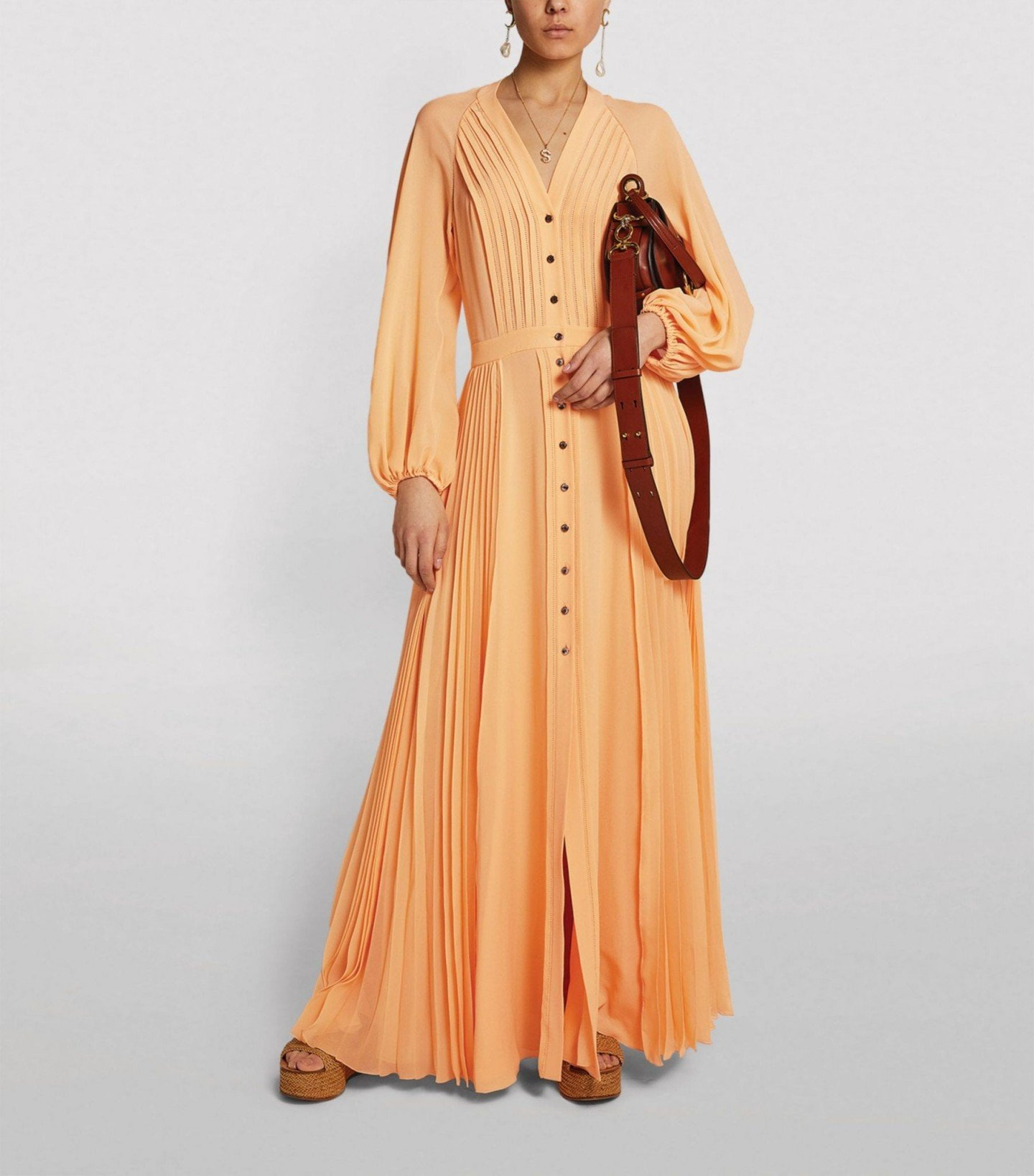 CHLOÉ Silk Pleated Dress