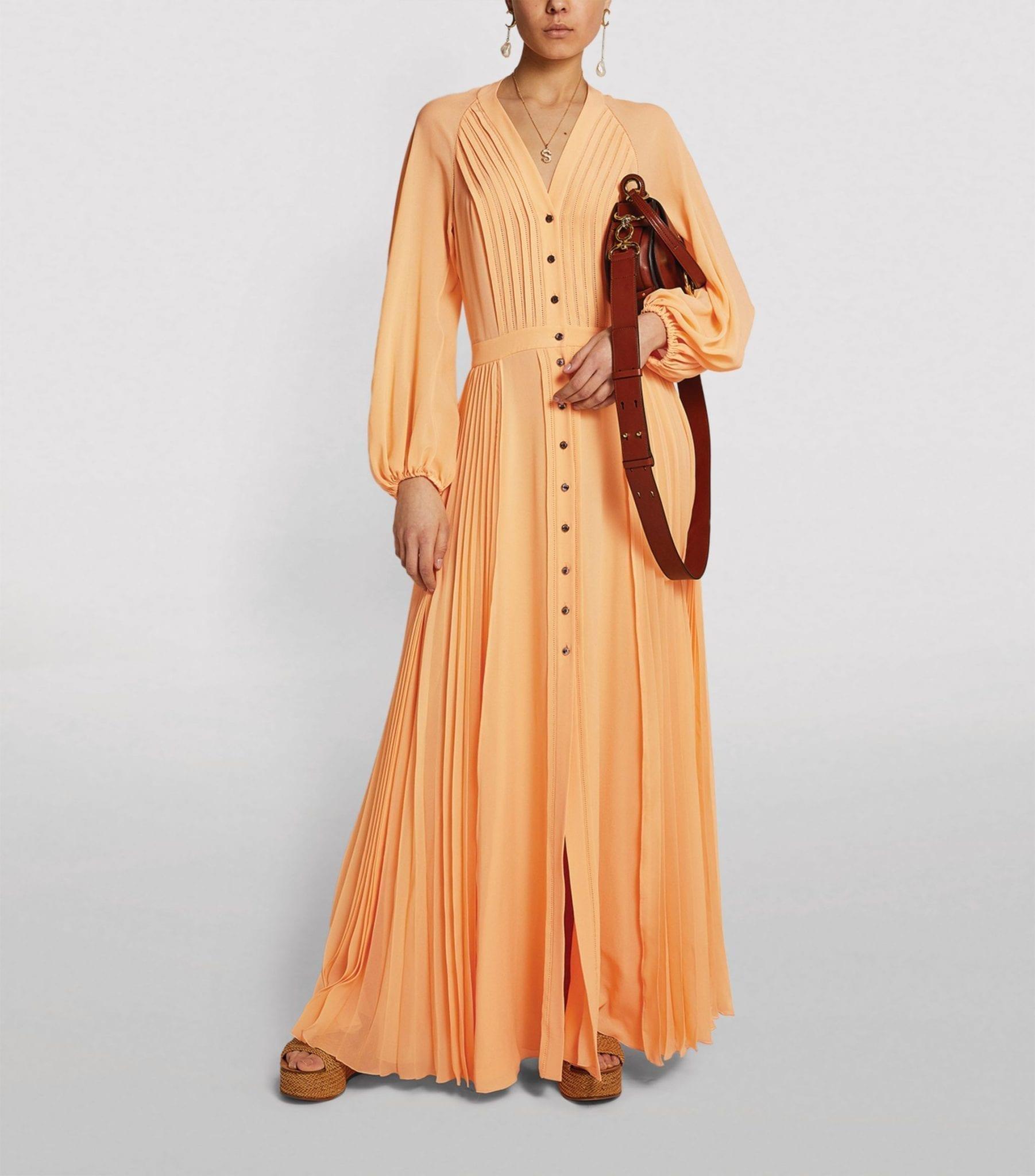 CHLOÉ Silk Pleated Dress