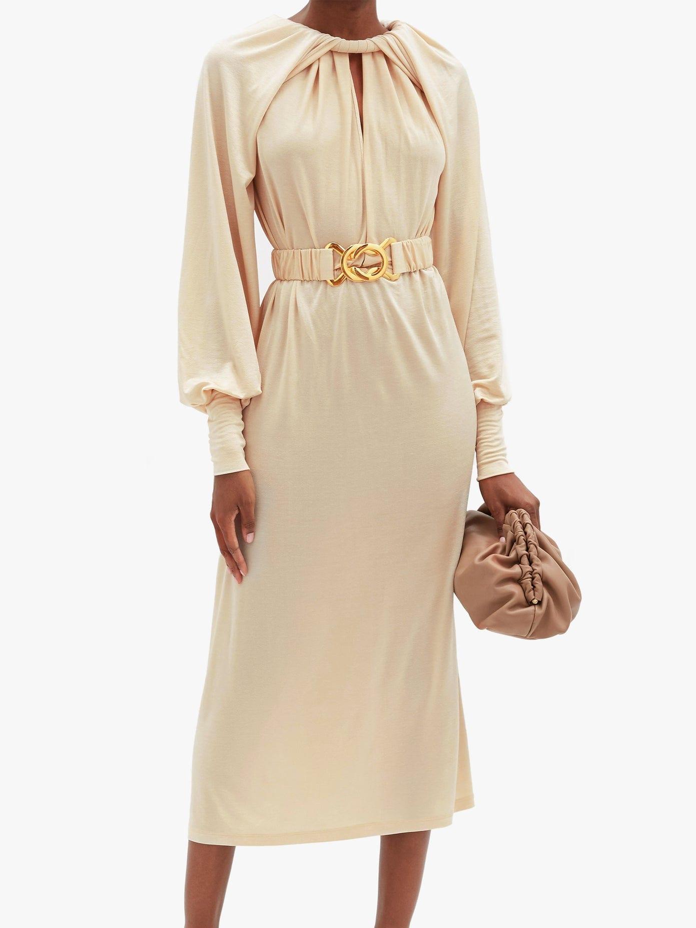 DODO BAR OR Mika Belted Crepe Dress