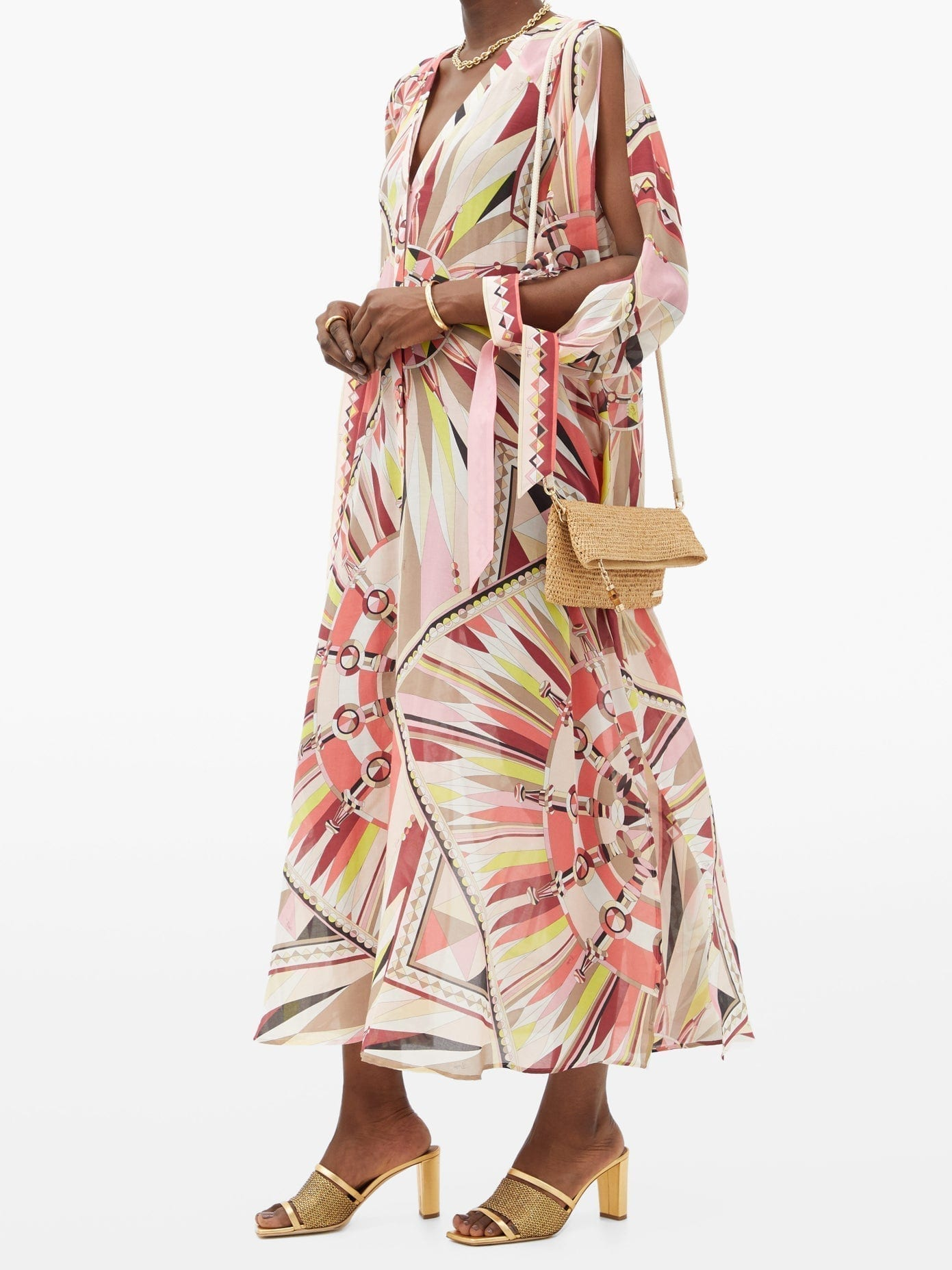 EMILIO PUCCI Abstract-Print Cotton-Blend Dress