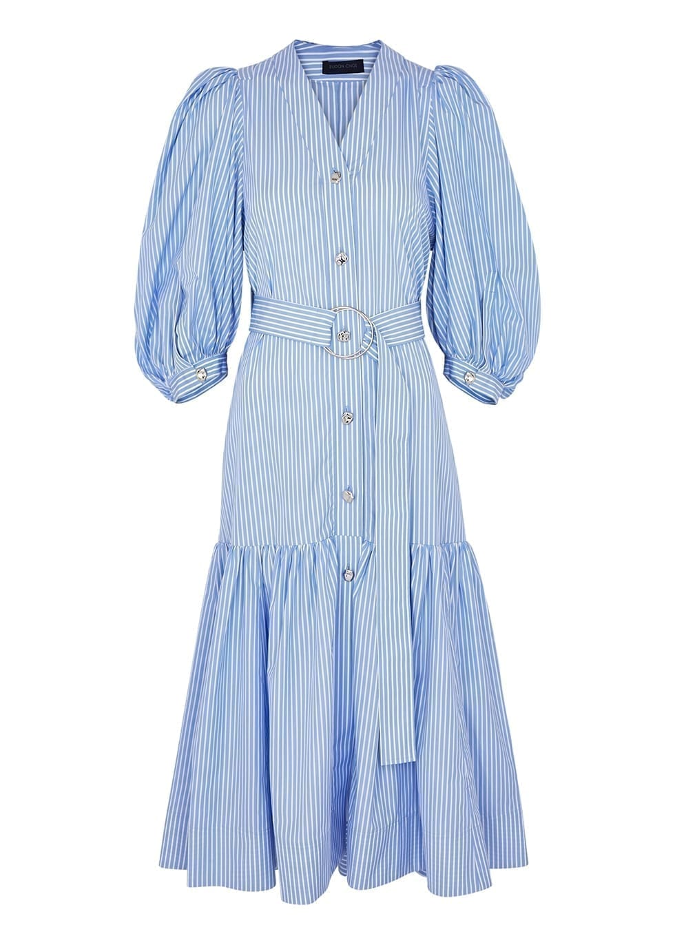 EUDON CHOI Margherita Striped Cotton Dress