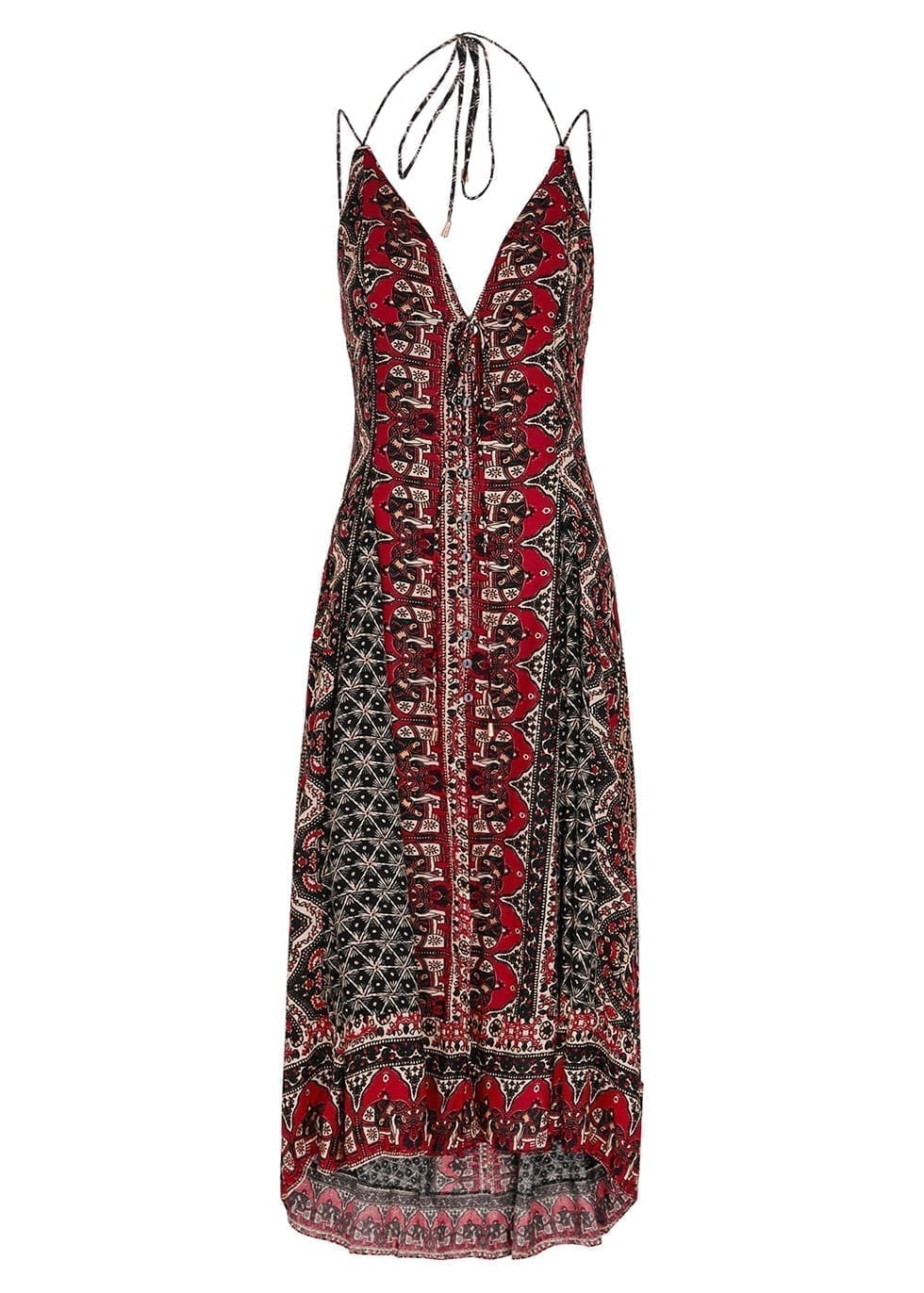 FREE PEOPLE On The Bright Side Printed Midi Dress