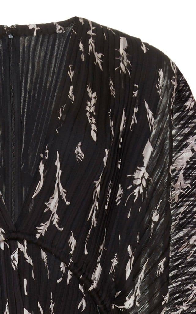 GIVENCHY Printed Plissé Maxi Dress