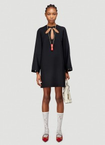 GUCCI Flared Sleeve Cut-Out Dress