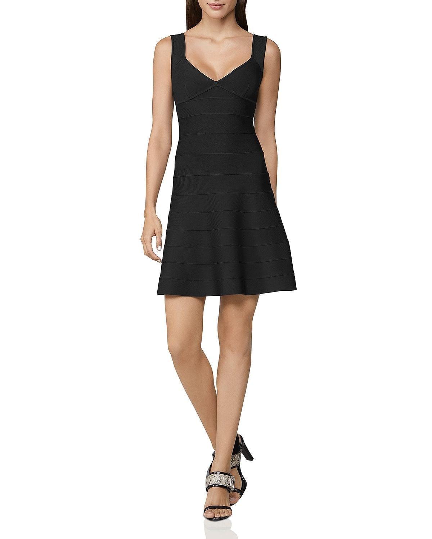 HERVÉ LÉGER Icon Banded A-Line Dress