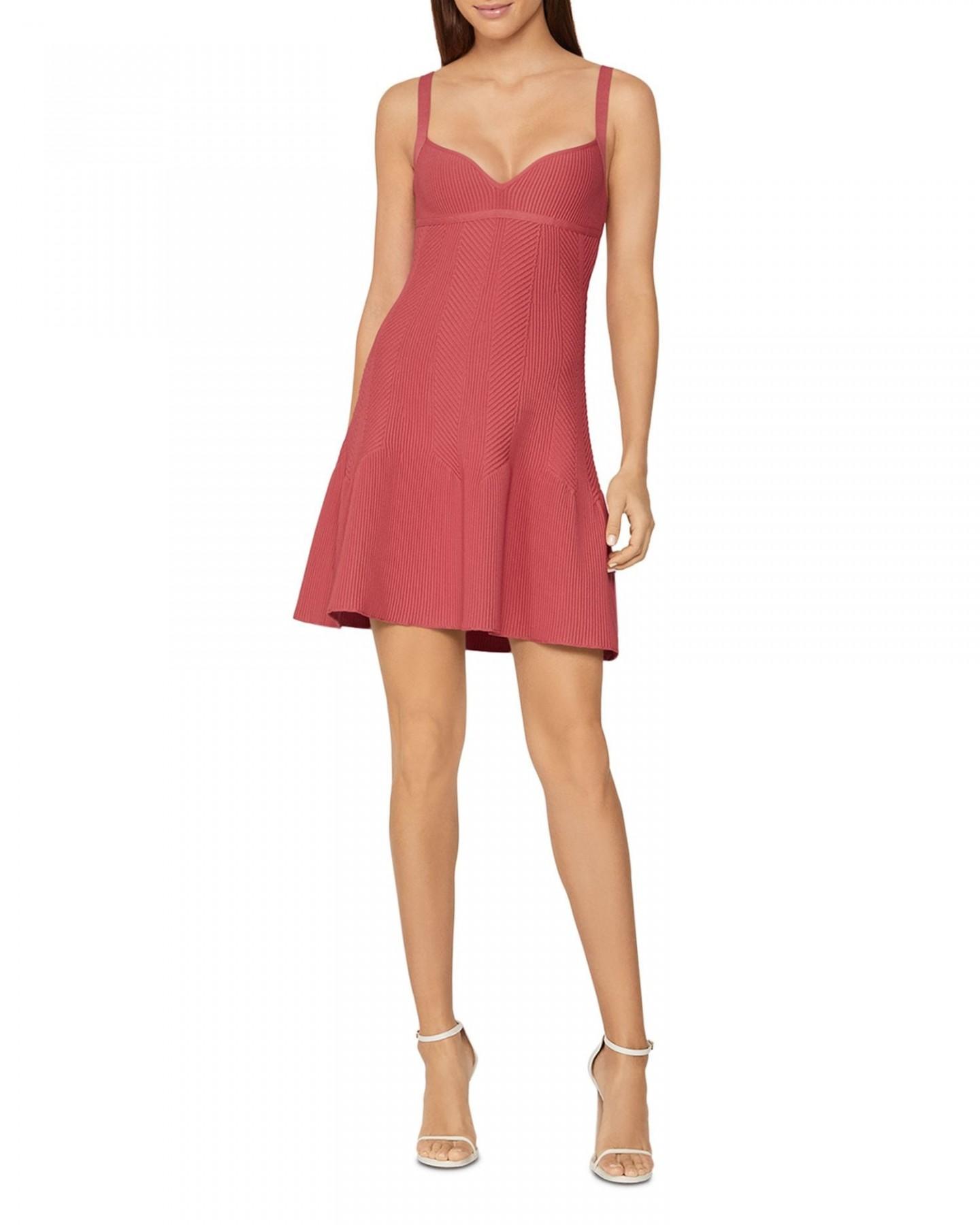 HERVÉ LÉGER Textured A-Line Dress