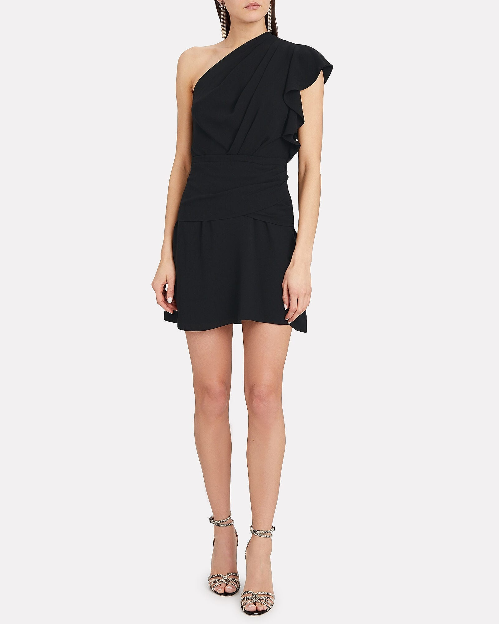 IRO Bonzac Draped One-Shoulder Dress