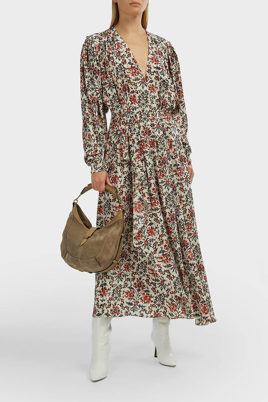 ISABEL MARANT Blaine Printed Asymmetric Dress