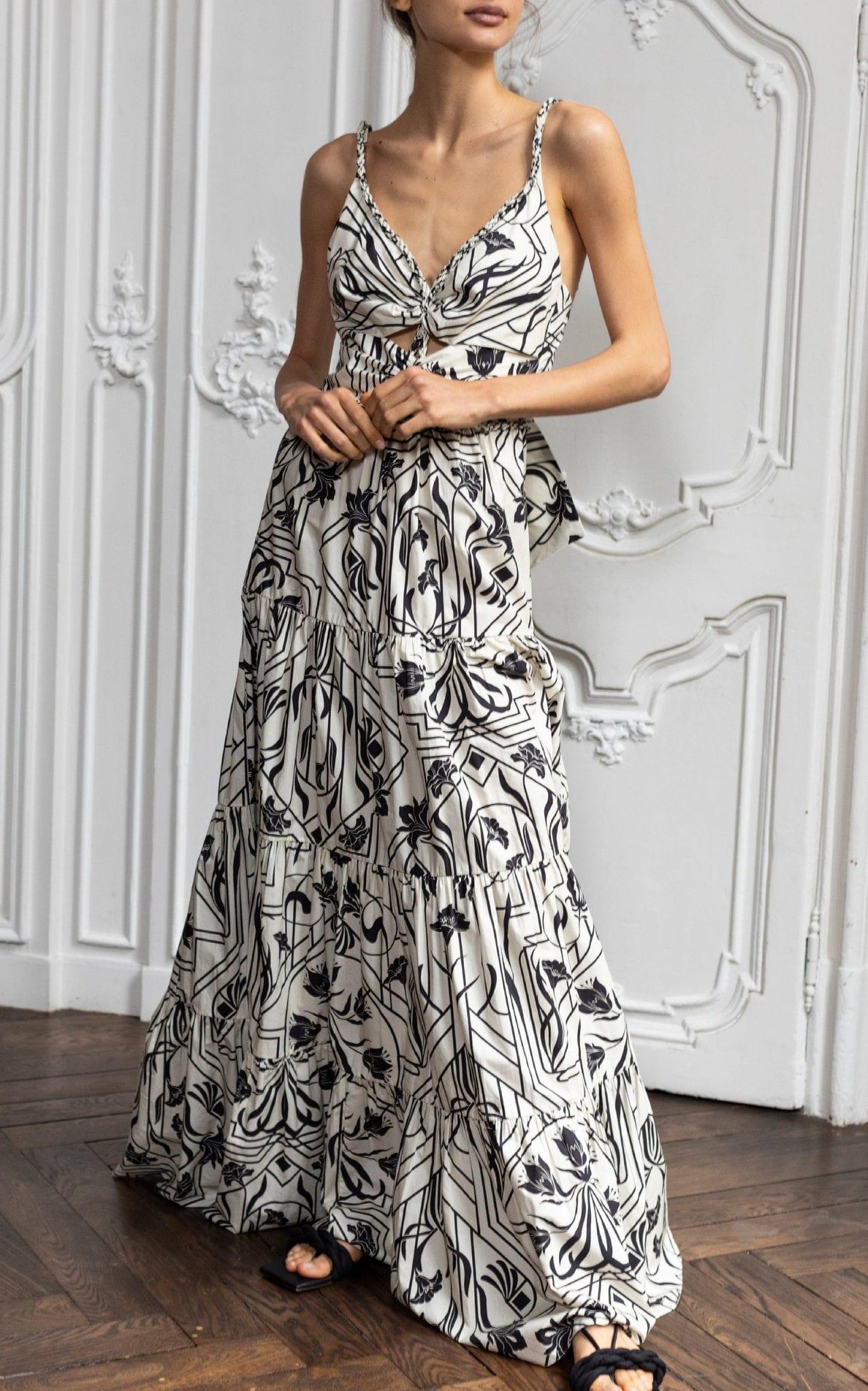 JOHANNA ORTIZ Floral Architecture Printed Cotton Maxi Dress
