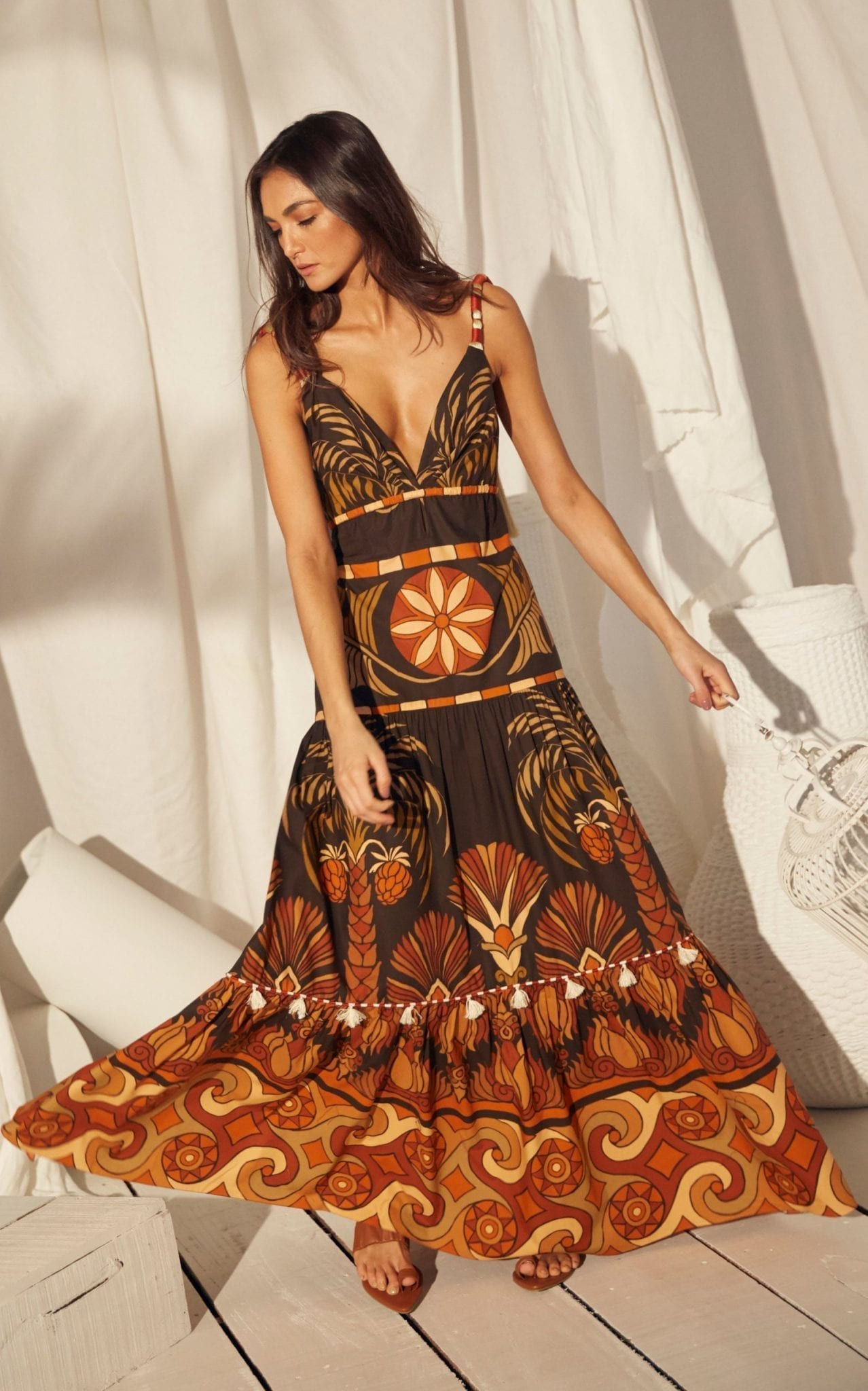 JOHANNA ORTIZ Neptunian Printed Cotton Dress