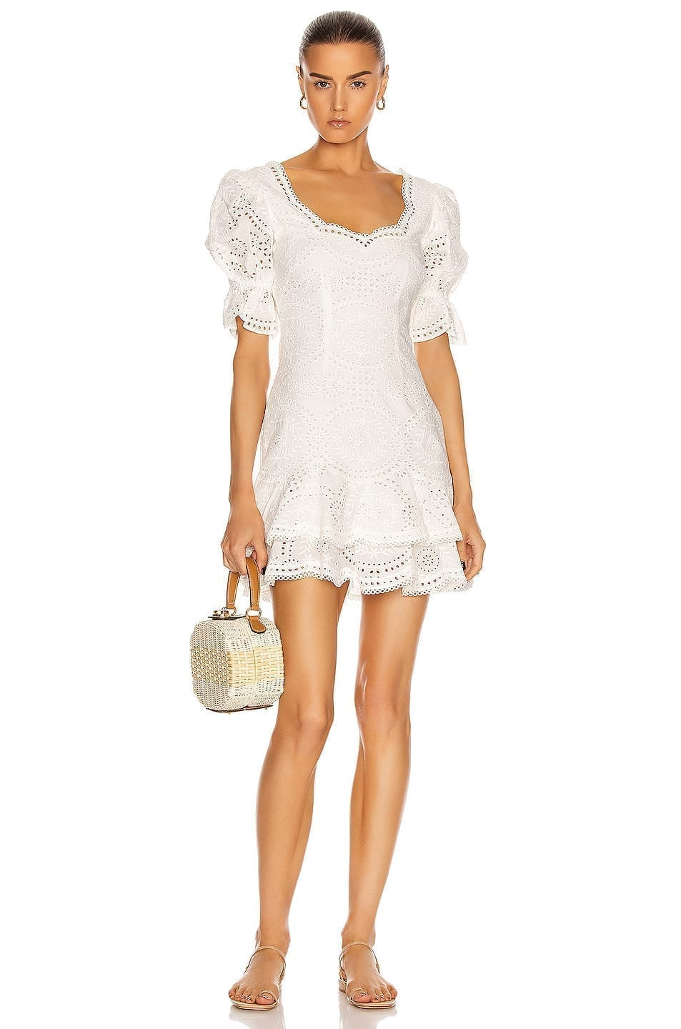 JONATHAN SIMKHAI Meg Puff Sleeve Mini Dress
