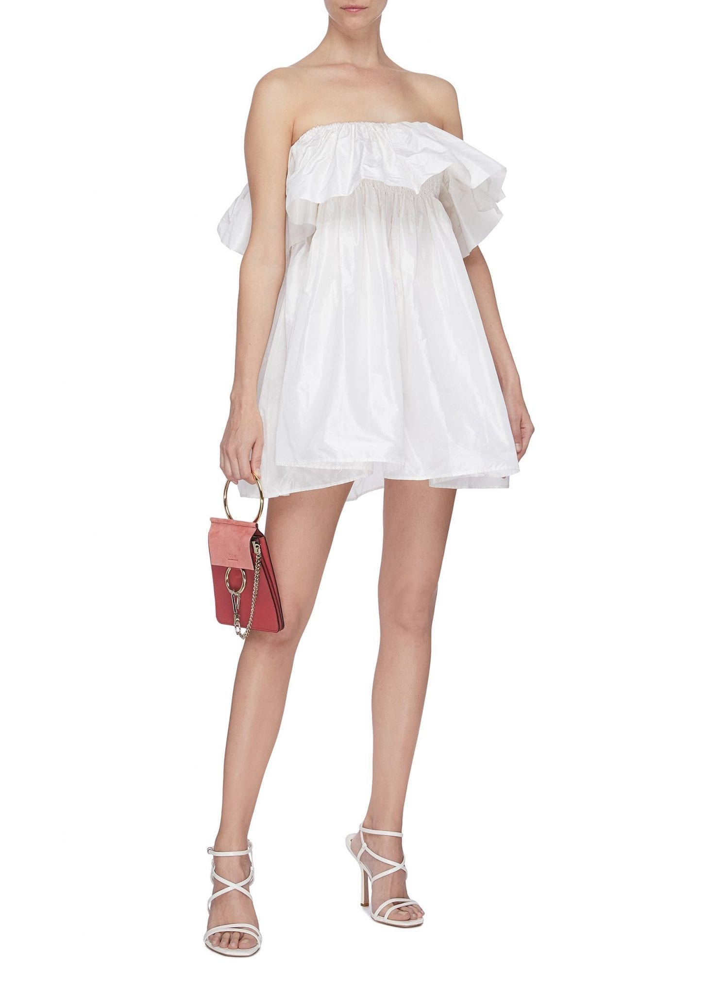 LEAL DACCARETT 'Perlas Blancas' Ruffle Sleeveless Dress