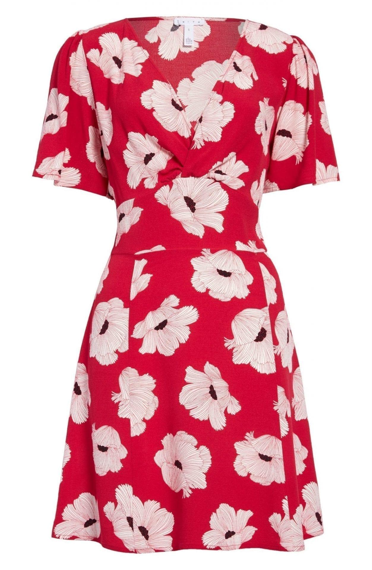 LEITH Twist Front A-line Mini Dress