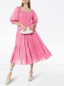 LOVESHACKFANCY Rigby Floral Print Dress