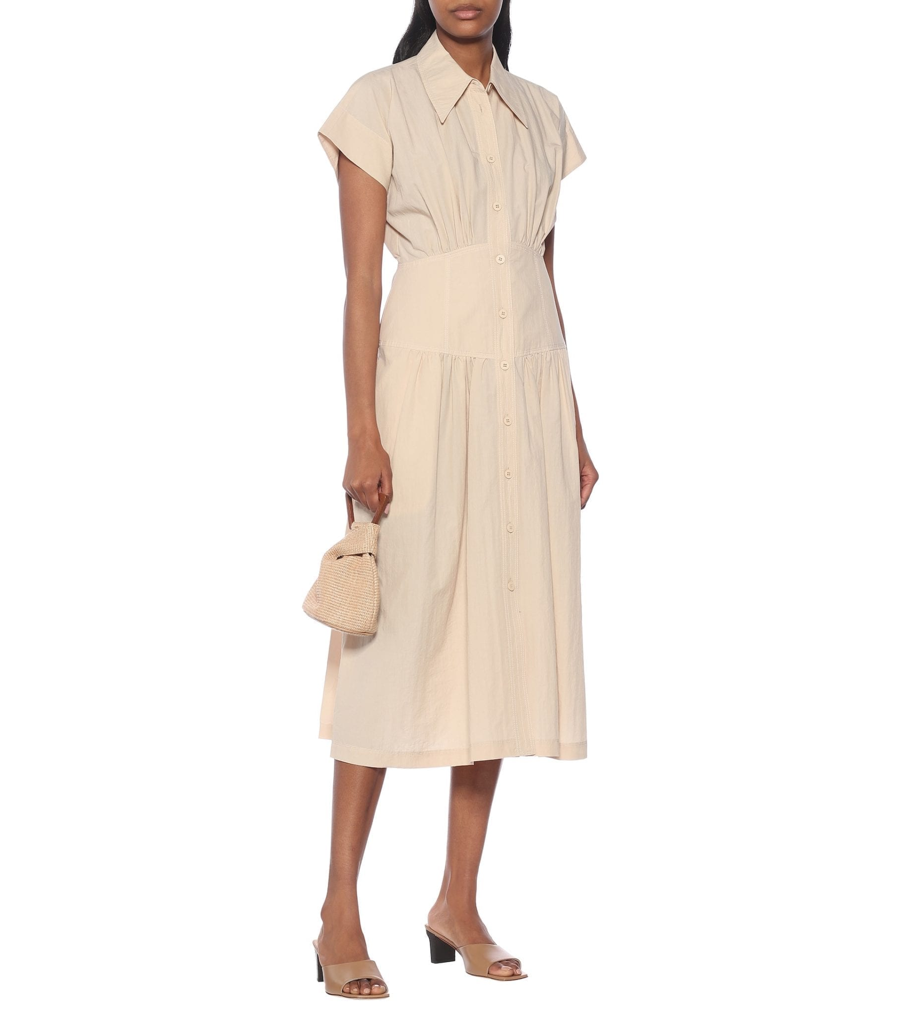 LOW CLASSIC Cotton-blend Shirt Dress