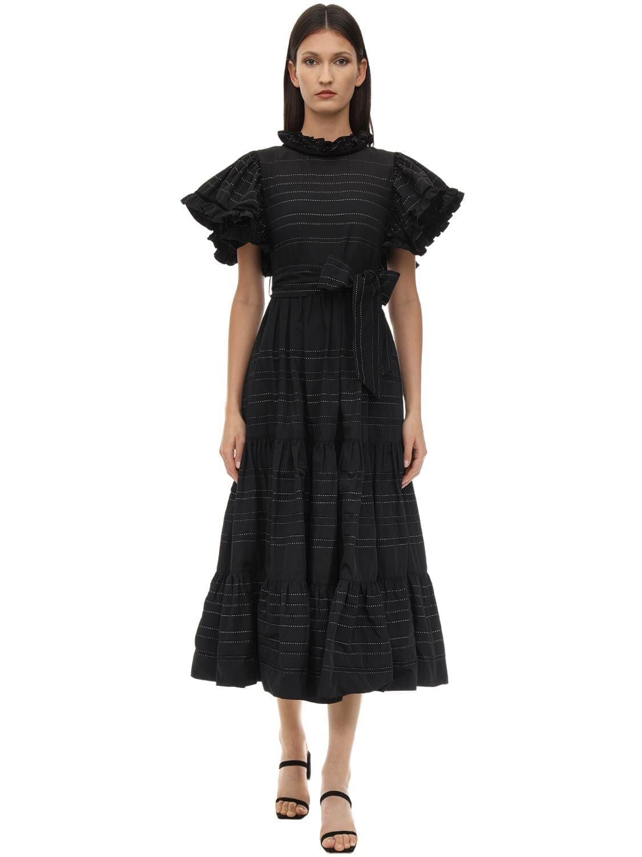 LUG VON SIGA Bella Ruffled Taffeta Midi Dress