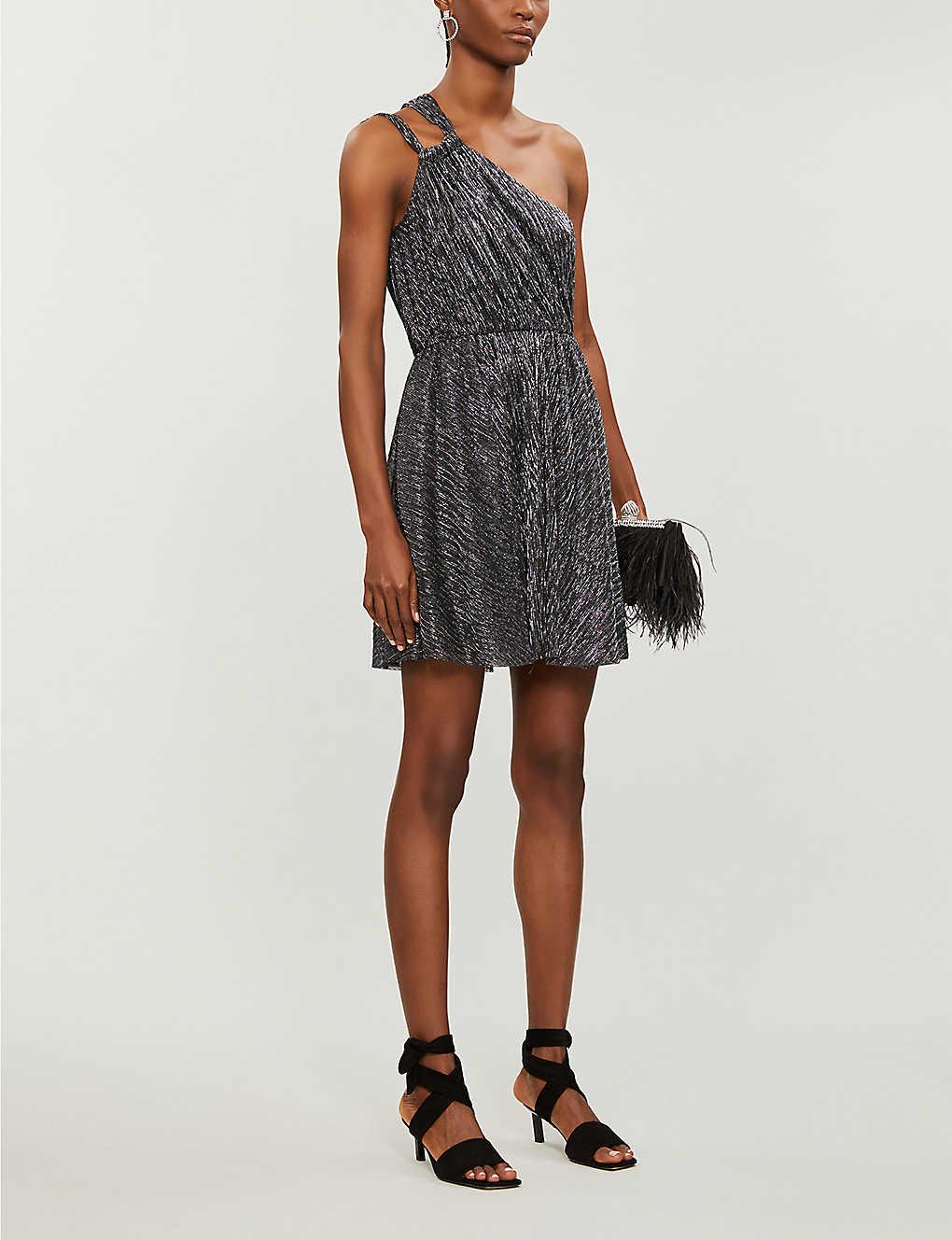 MAJE Riane Metallic Mini Dress