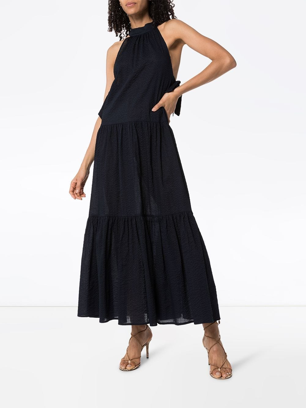 MARYSIA Molluscs Halterneck Maxi Dress
