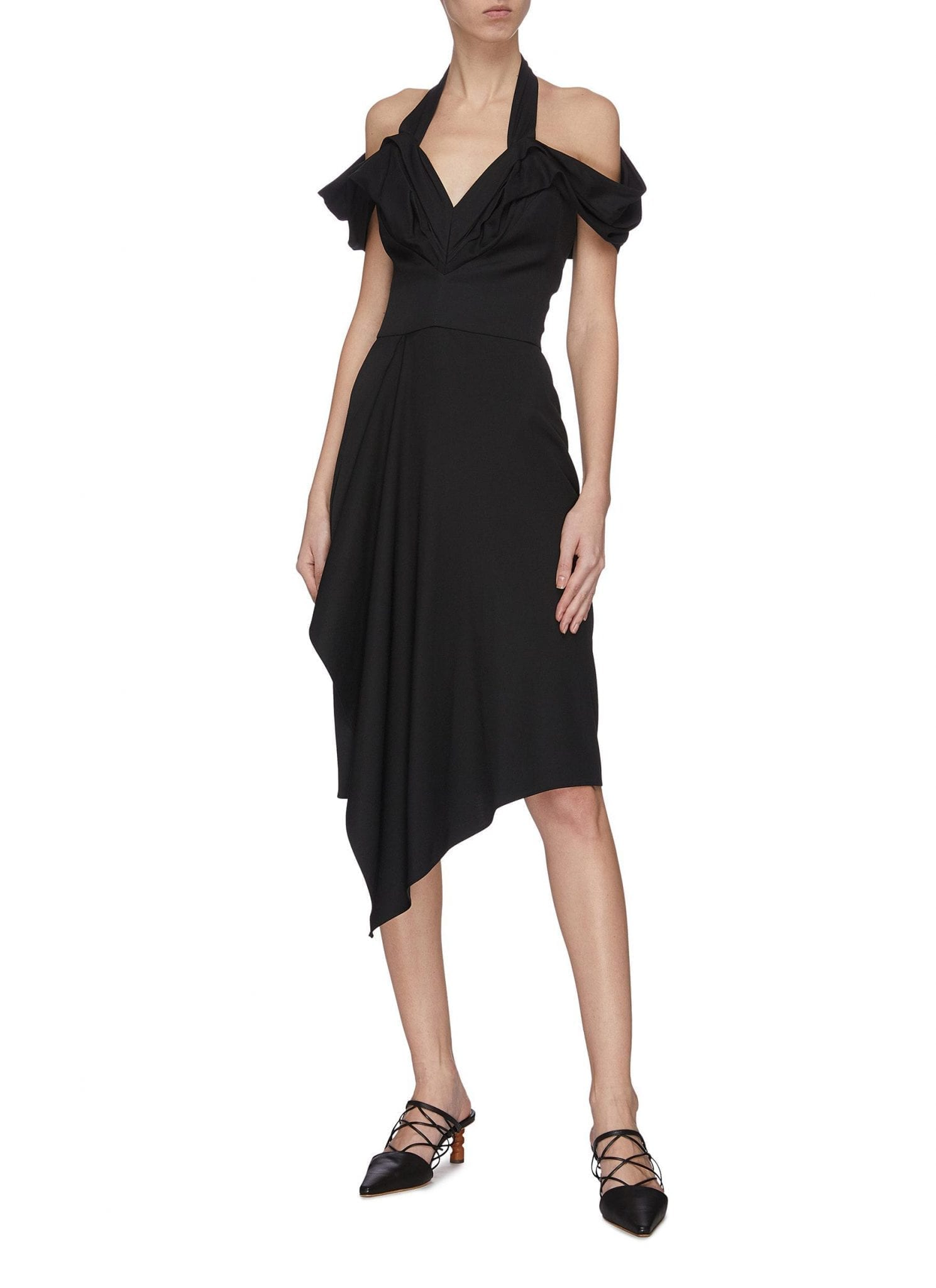 MATICEVSKI 'Chrysalis' Asymmetric V-neck Dress