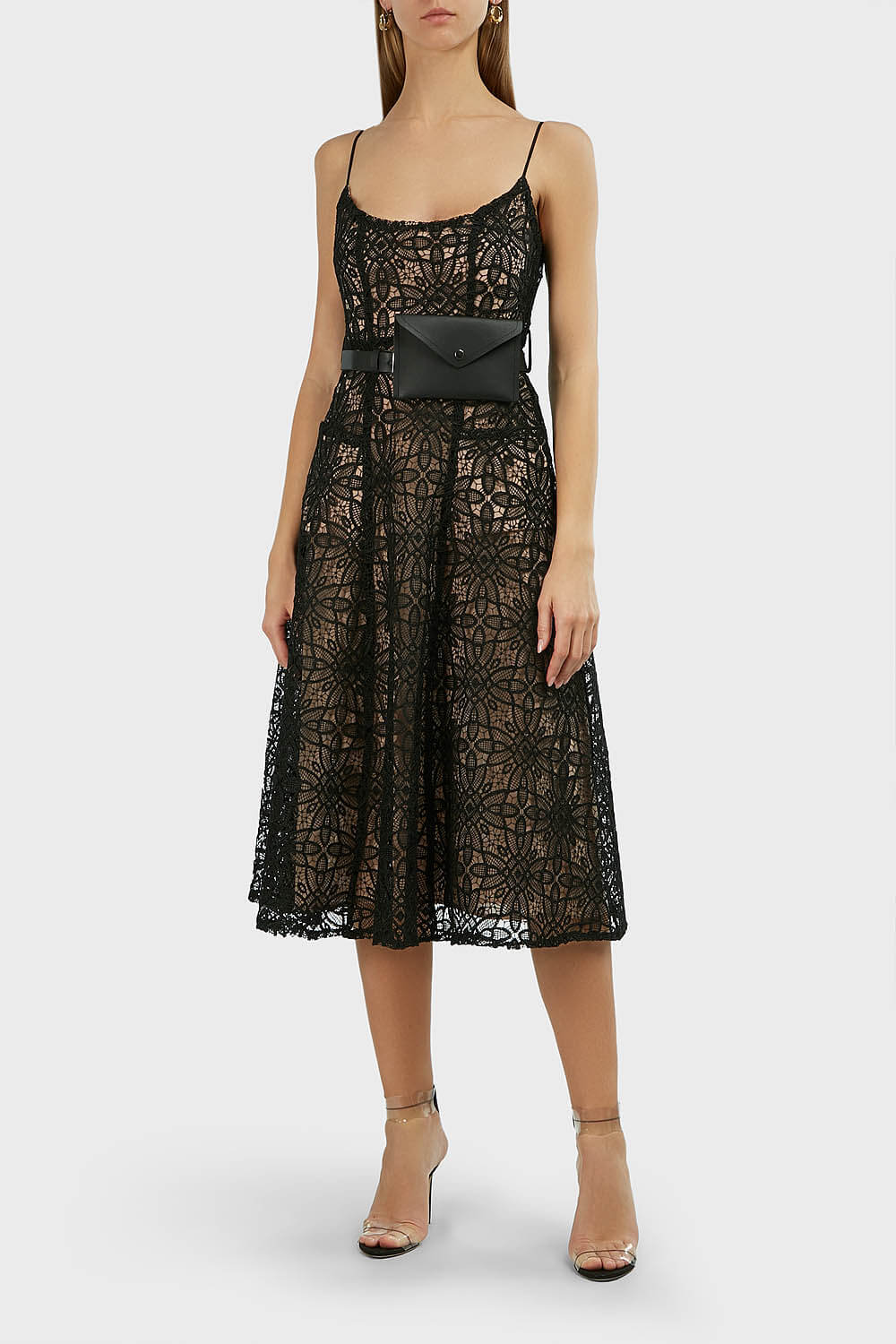 MISHA Marzia Belted Lace Dress