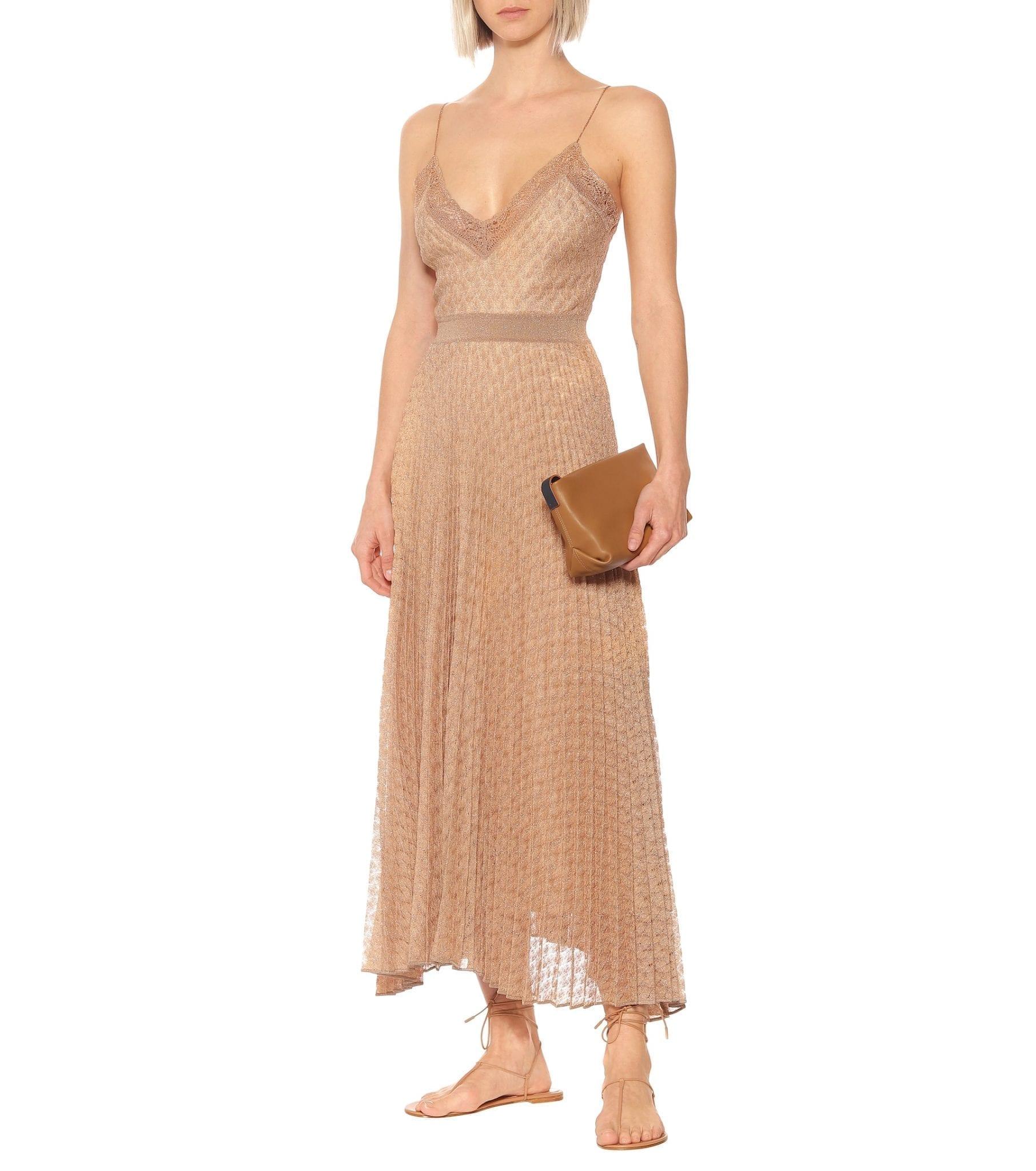 MISSONI Lamé Knit Midi Dress