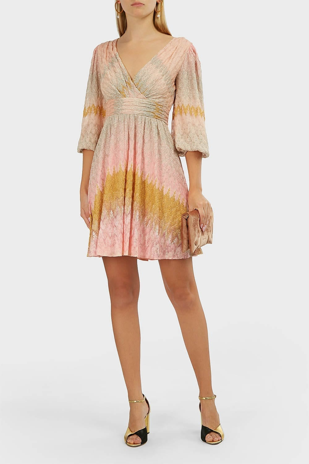 MISSONI Woven Gathered Mini Dress