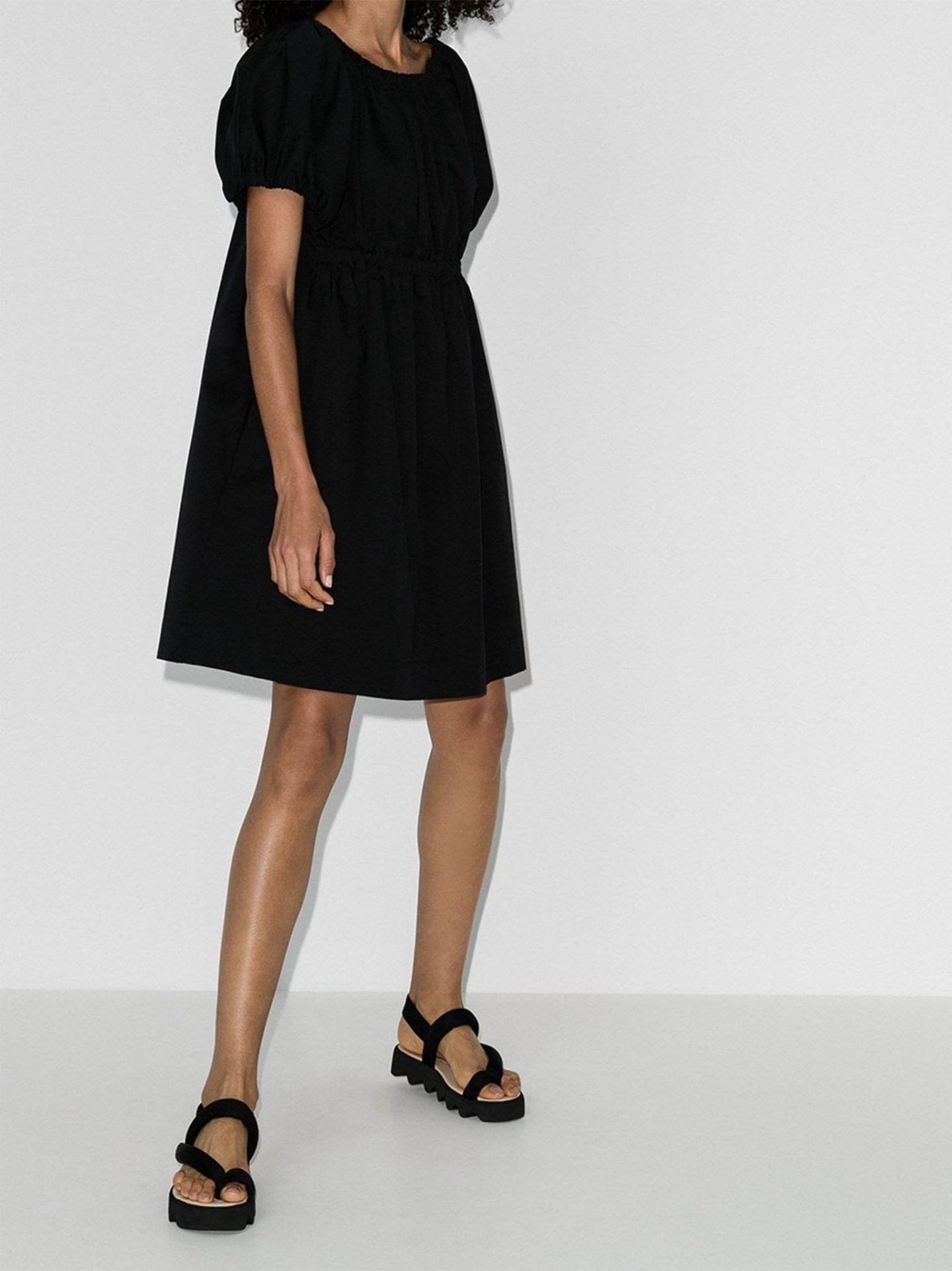 MOLLY GODDARD Honey Off-The-Shoulder Gathered Mini Dress