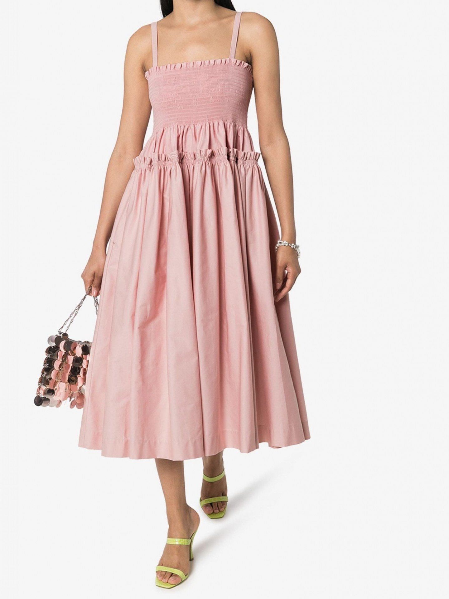 MOLLY GODDARD Marlinene Cotton Midi Dress