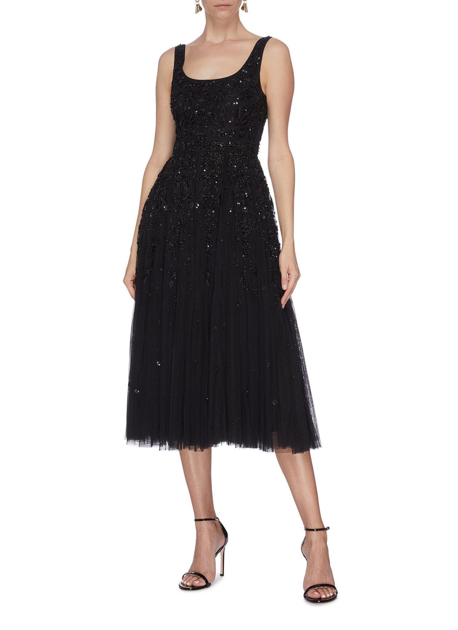 NEEDLE & THREAD 'Snowflake' Sequin Embellished Prom Dress