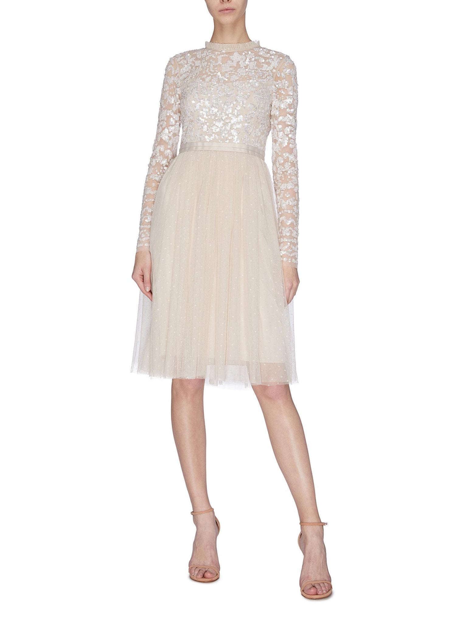NEEDLE & THREAD 'Tempest' Sequin Embroidered Bodice Dress