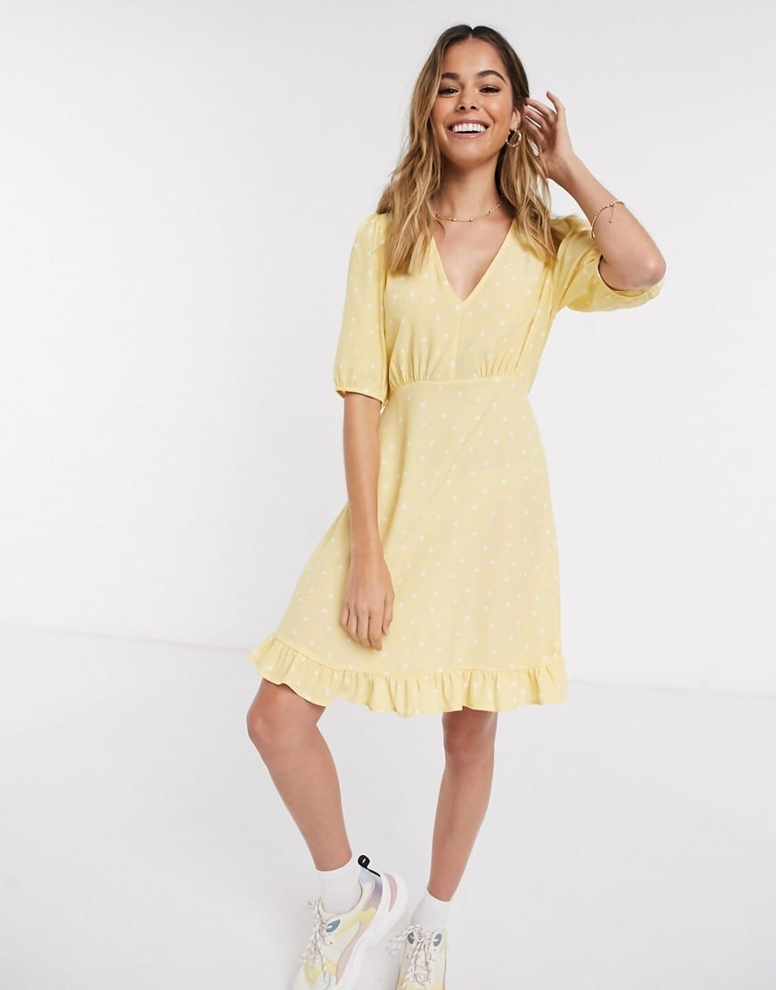 NEW LOOK Frill Hem Mini Dress